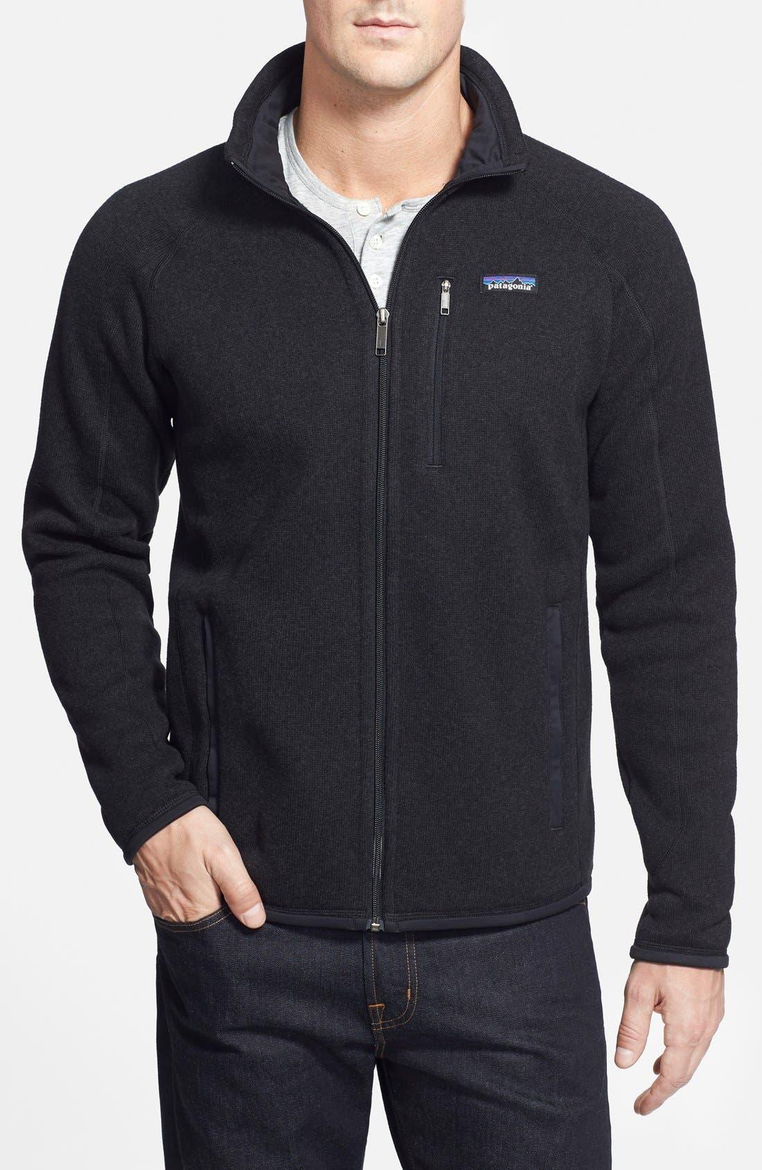 Better Sweater Zip Front Jacket,                         Main,                         color, BLACK