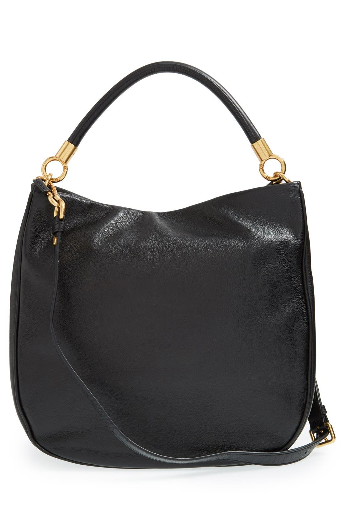 MARC BY MARC JACOBS 'Too Hot to Handle' Hobo,                             Alternate thumbnail 4, color,                             001