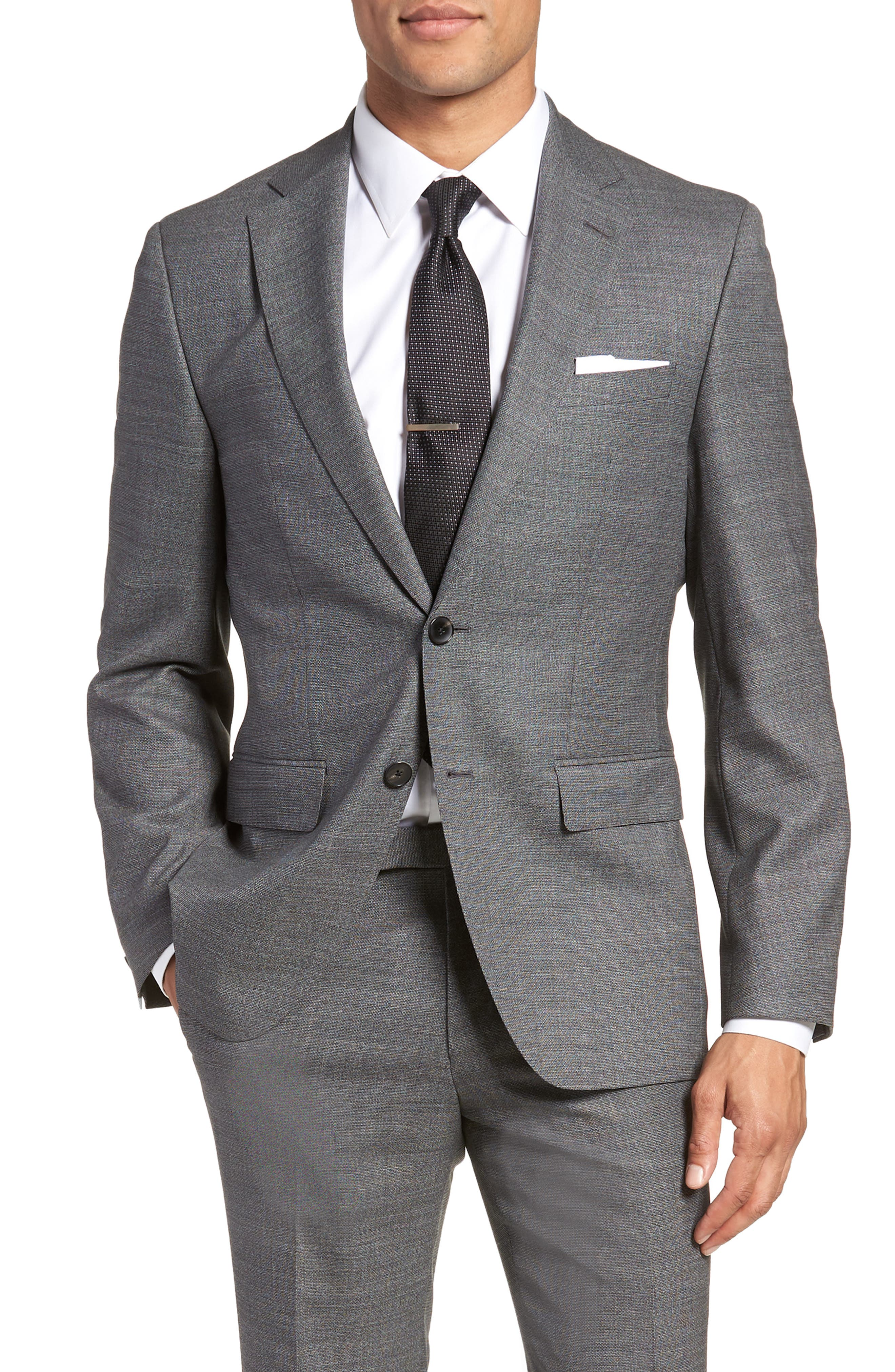 Johnstons/Lenon Classic Fit Solid Wool Suit,                             Alternate thumbnail 5, color,                             020