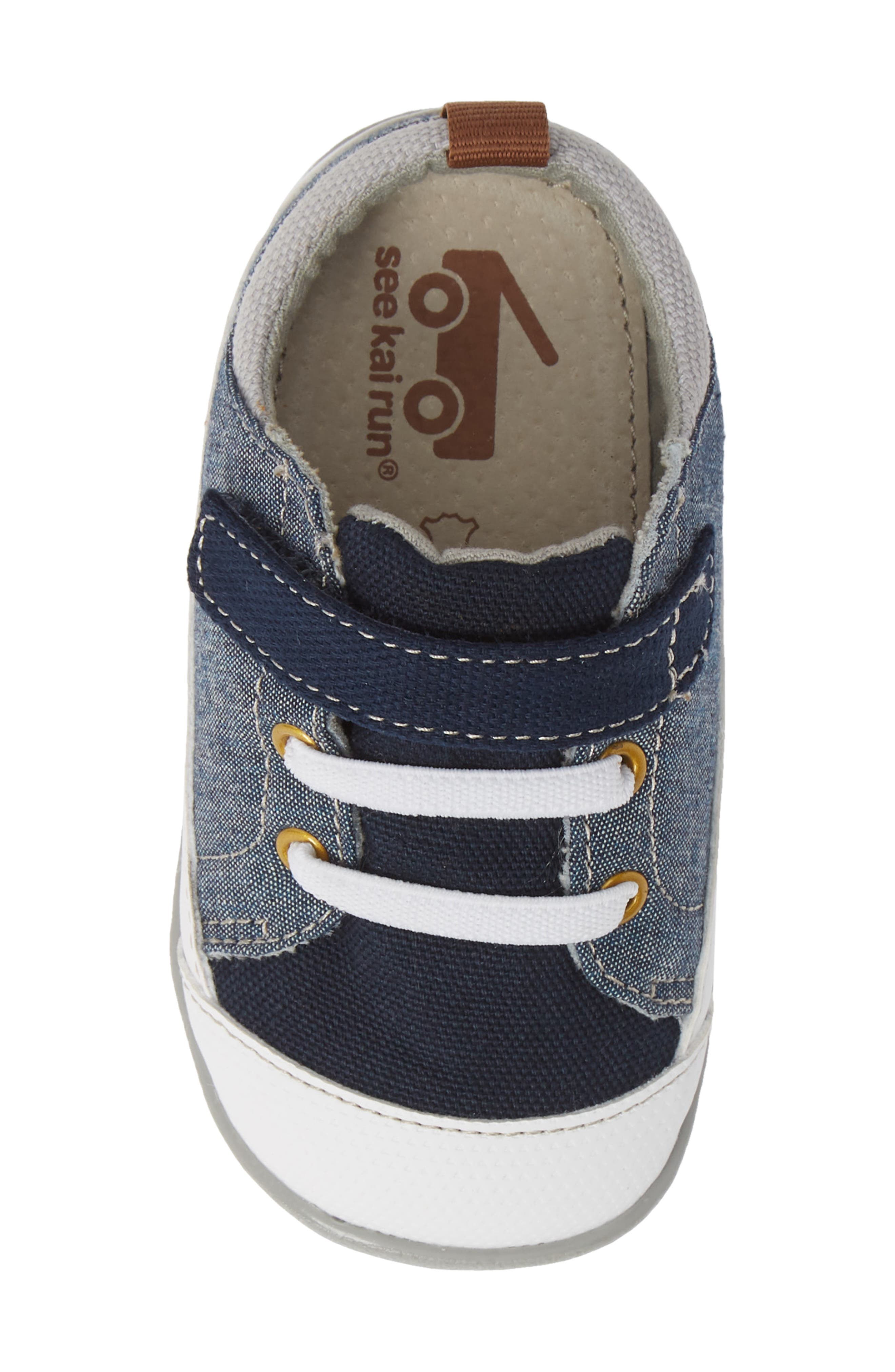 Stevie II Sneaker,                             Alternate thumbnail 5, color,                             BLUE DENIM
