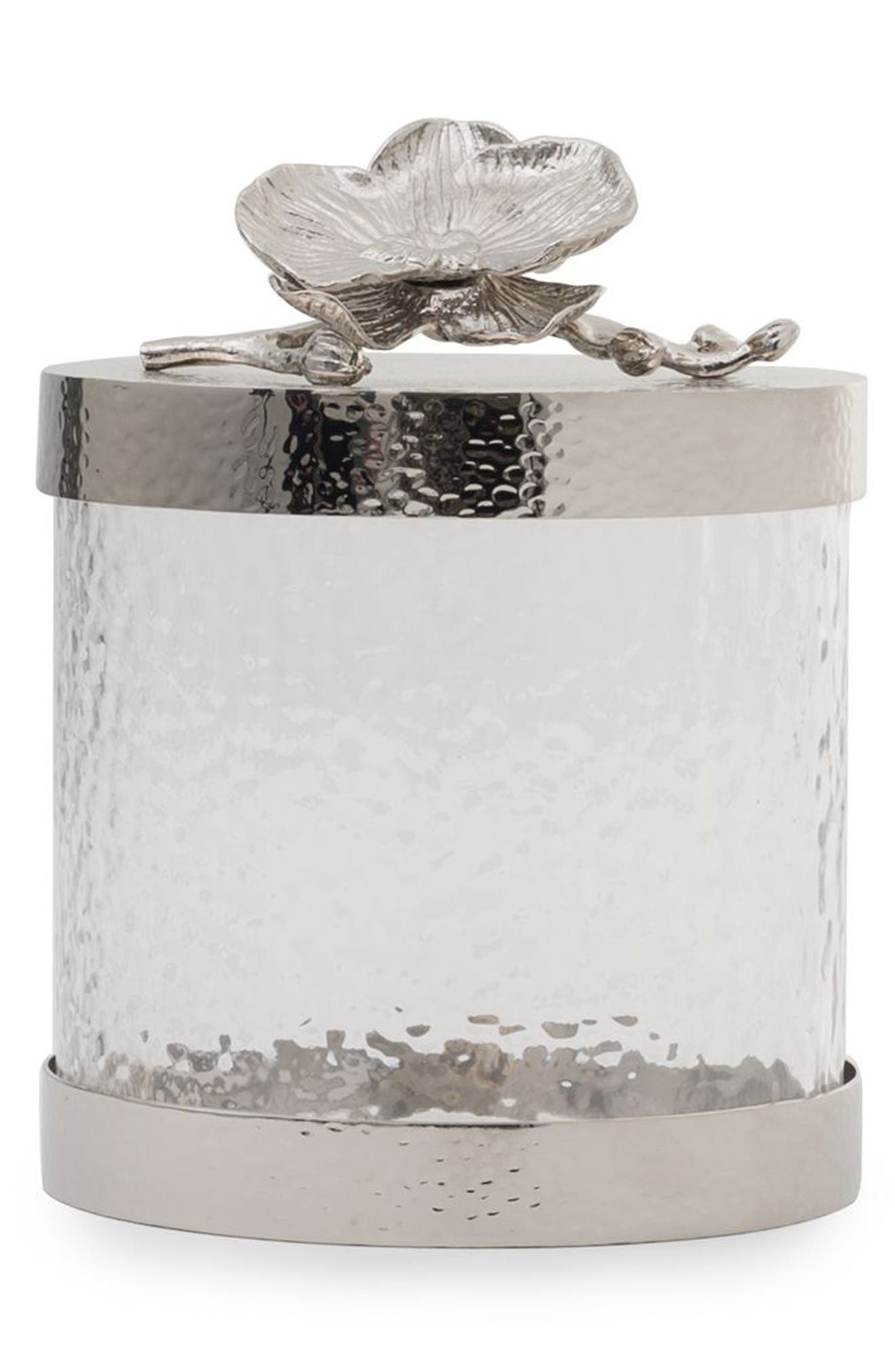 White Orchid Canister,                             Main thumbnail 1, color,                             SILVER/ XSMALL