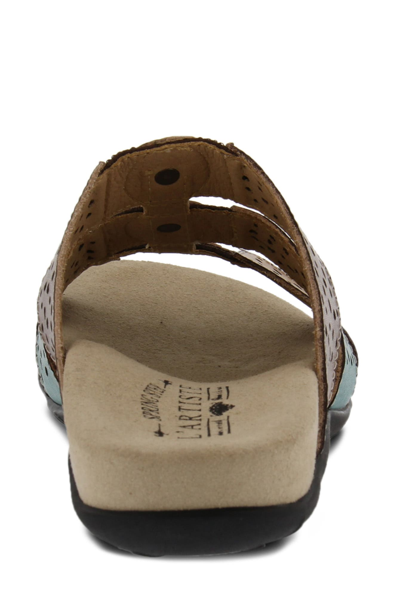 Glennie Sandal,                             Alternate thumbnail 6, color,                             GREY MULTI LEATHER
