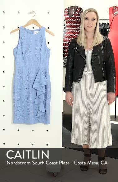 Sleeveless Ruffle Lace Sheath Dress, sales video thumbnail
