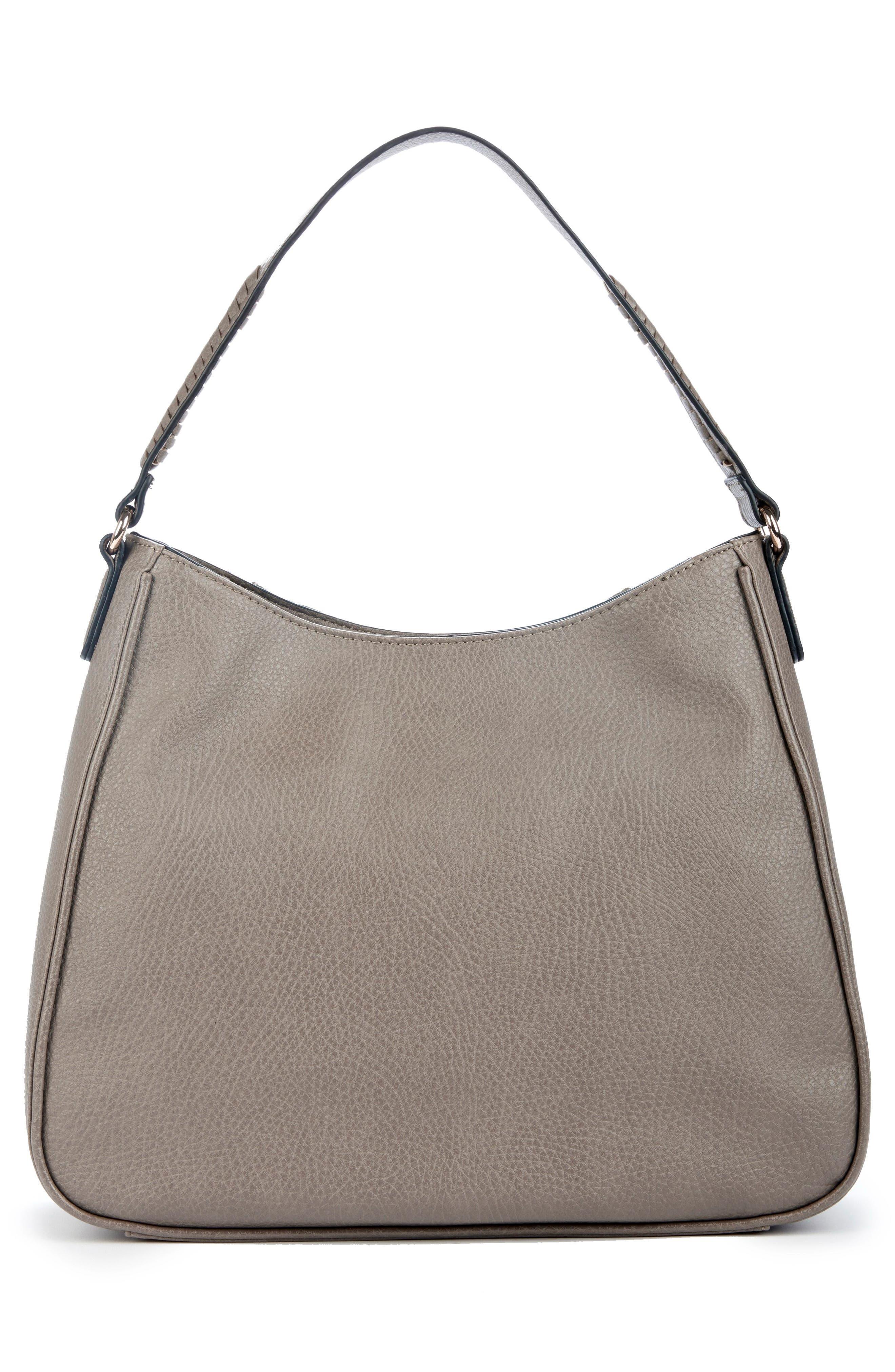 Sarafina Faux Leather Shoulder Bag,                             Alternate thumbnail 3, color,                             020