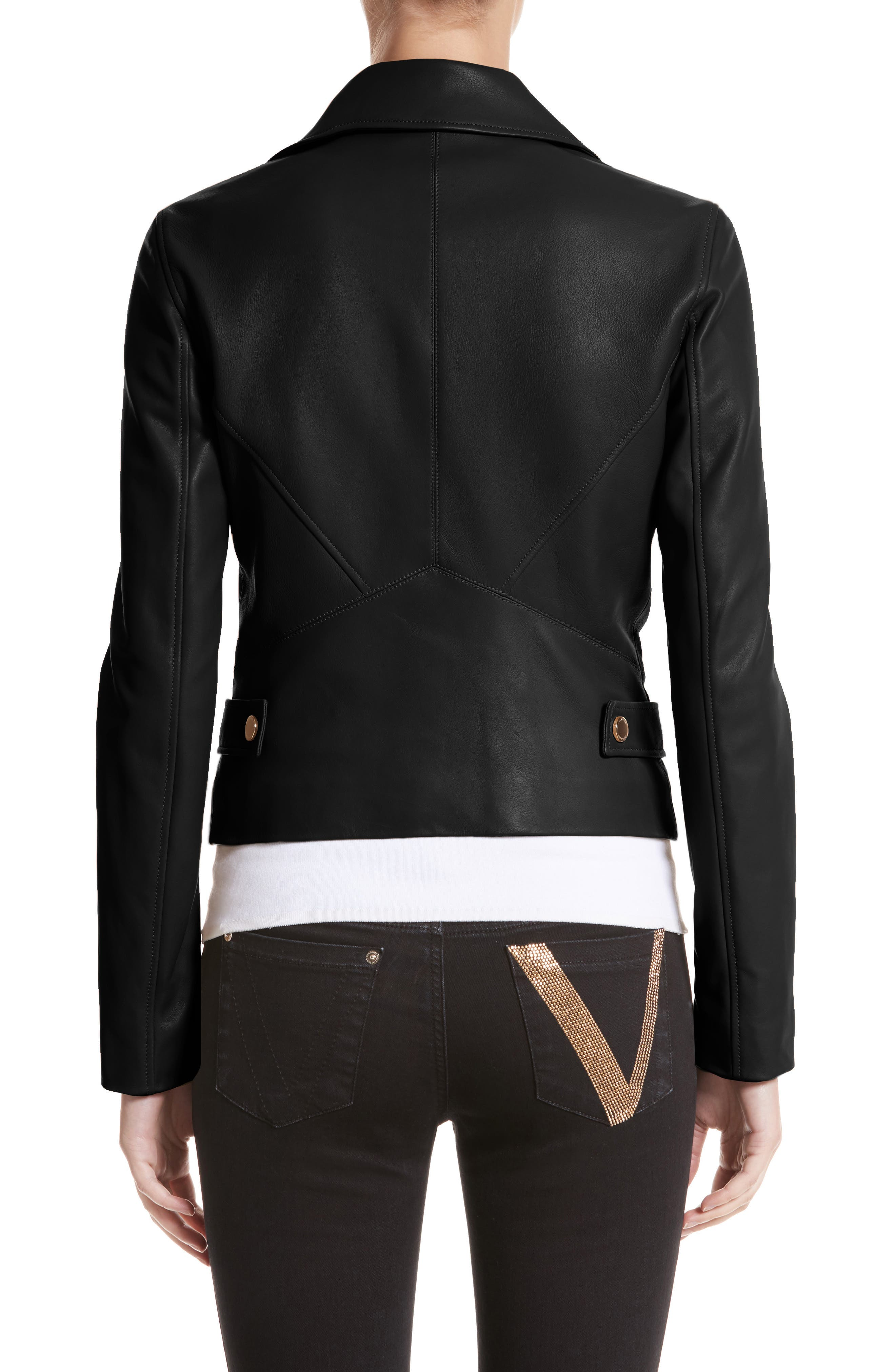 Nappa Leather Jacket,                             Alternate thumbnail 2, color,                             001