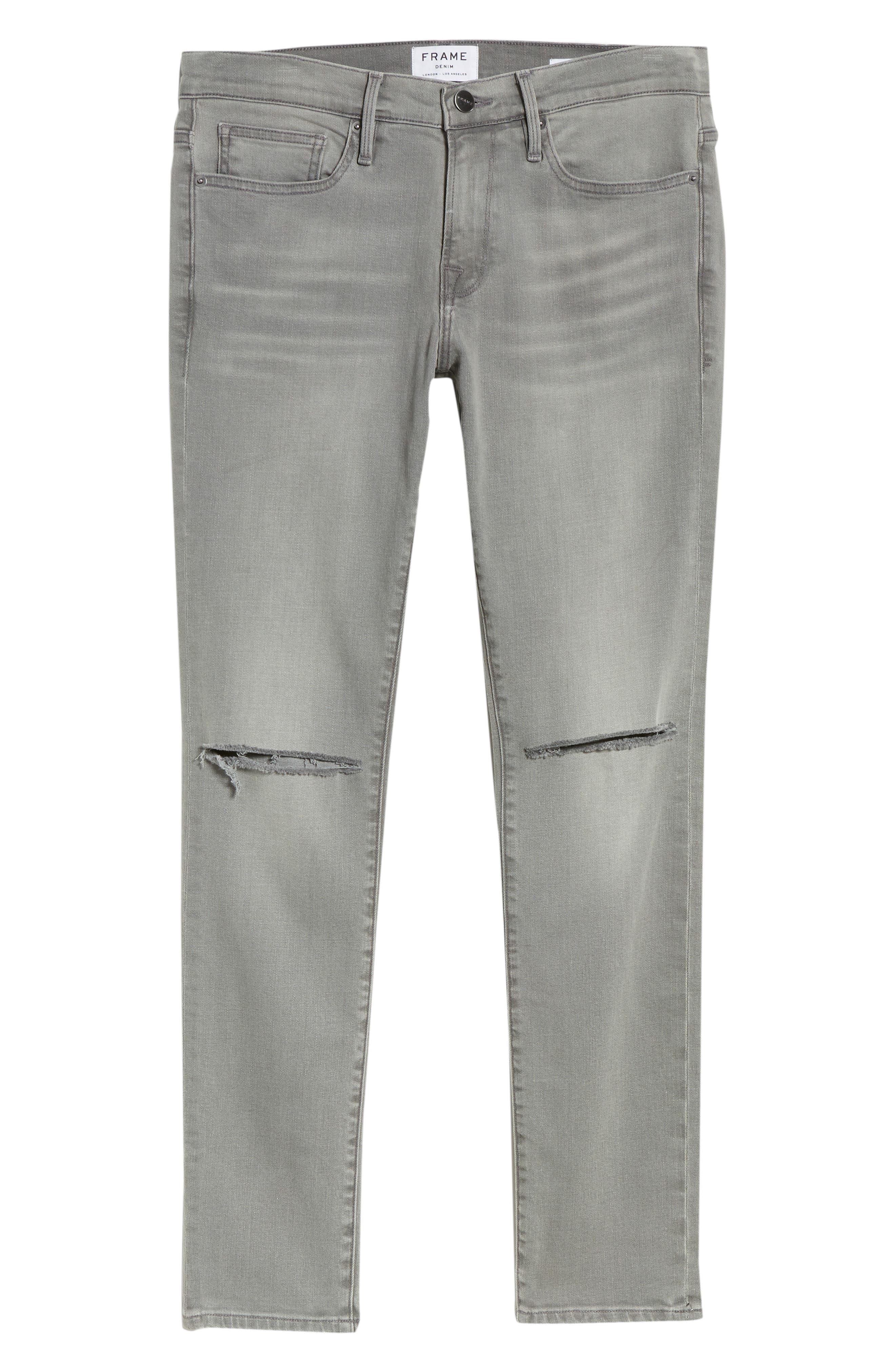 L'Homme Skinny Fit Jeans,                             Alternate thumbnail 6, color,                             030