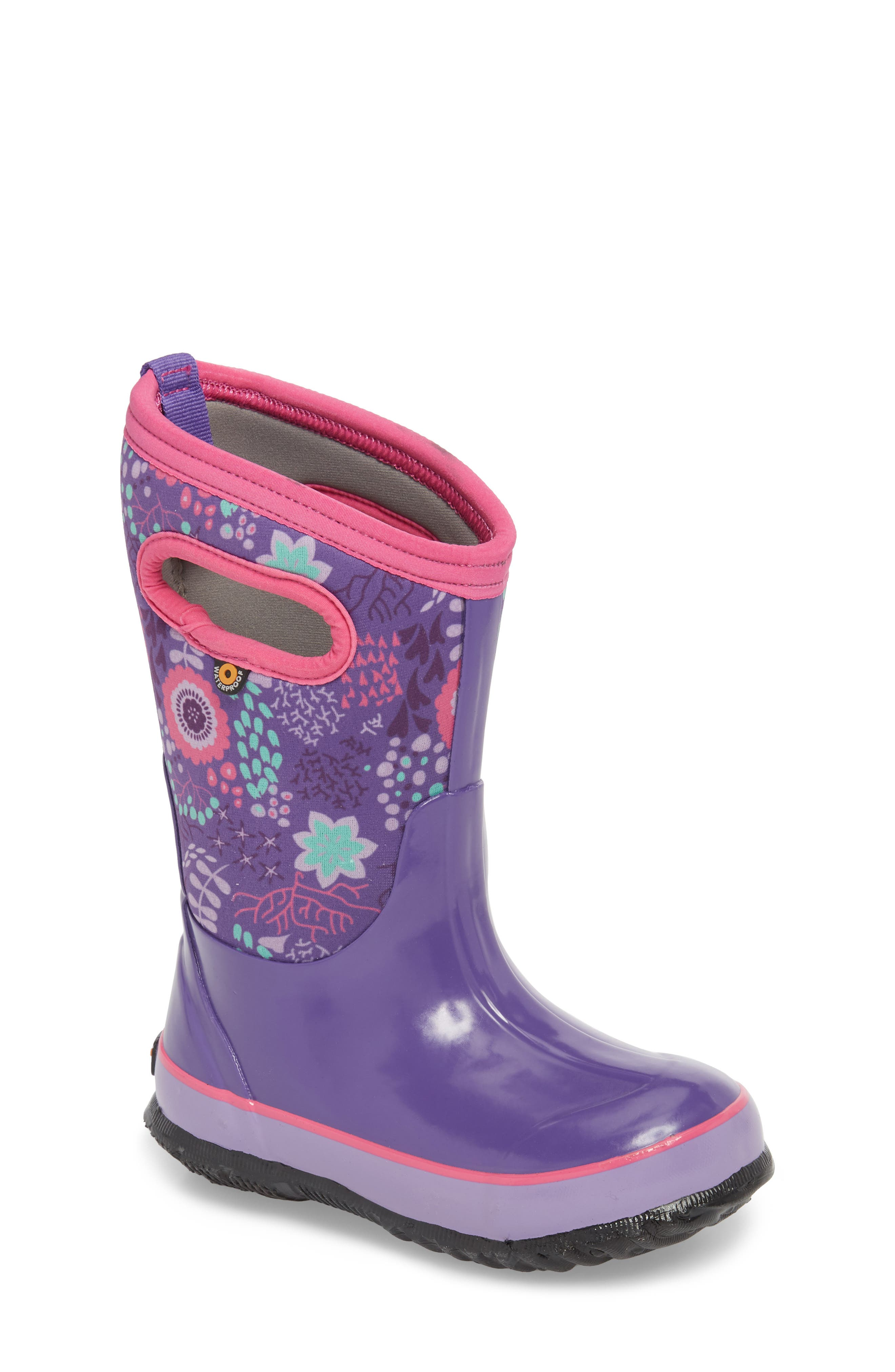BOGS,                             Classic Reef Insulated Print Waterproof Boot,                             Main thumbnail 1, color,                             540