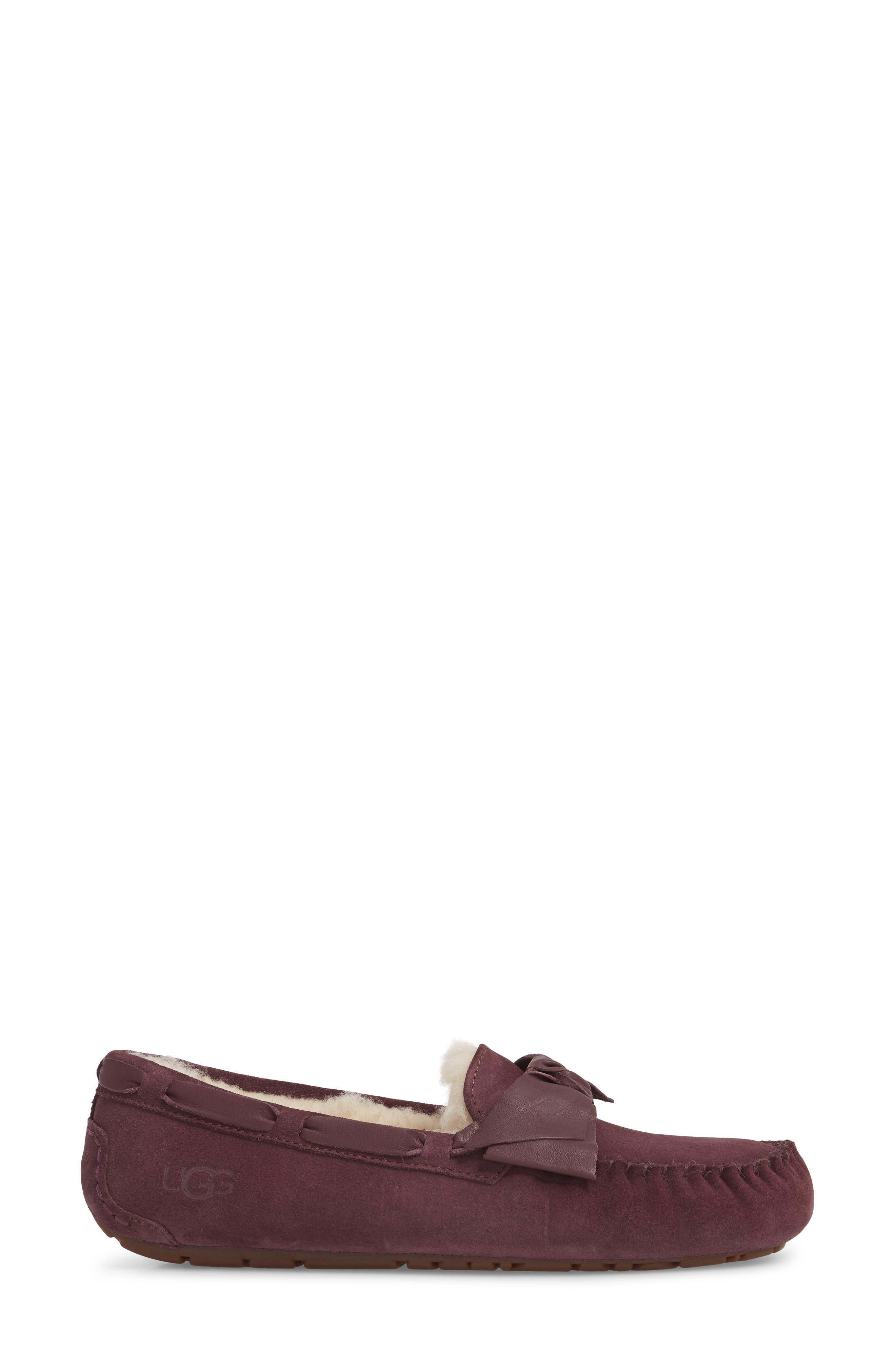 Dakota Bow Slipper,                             Alternate thumbnail 3, color,                             PORT SUEDE