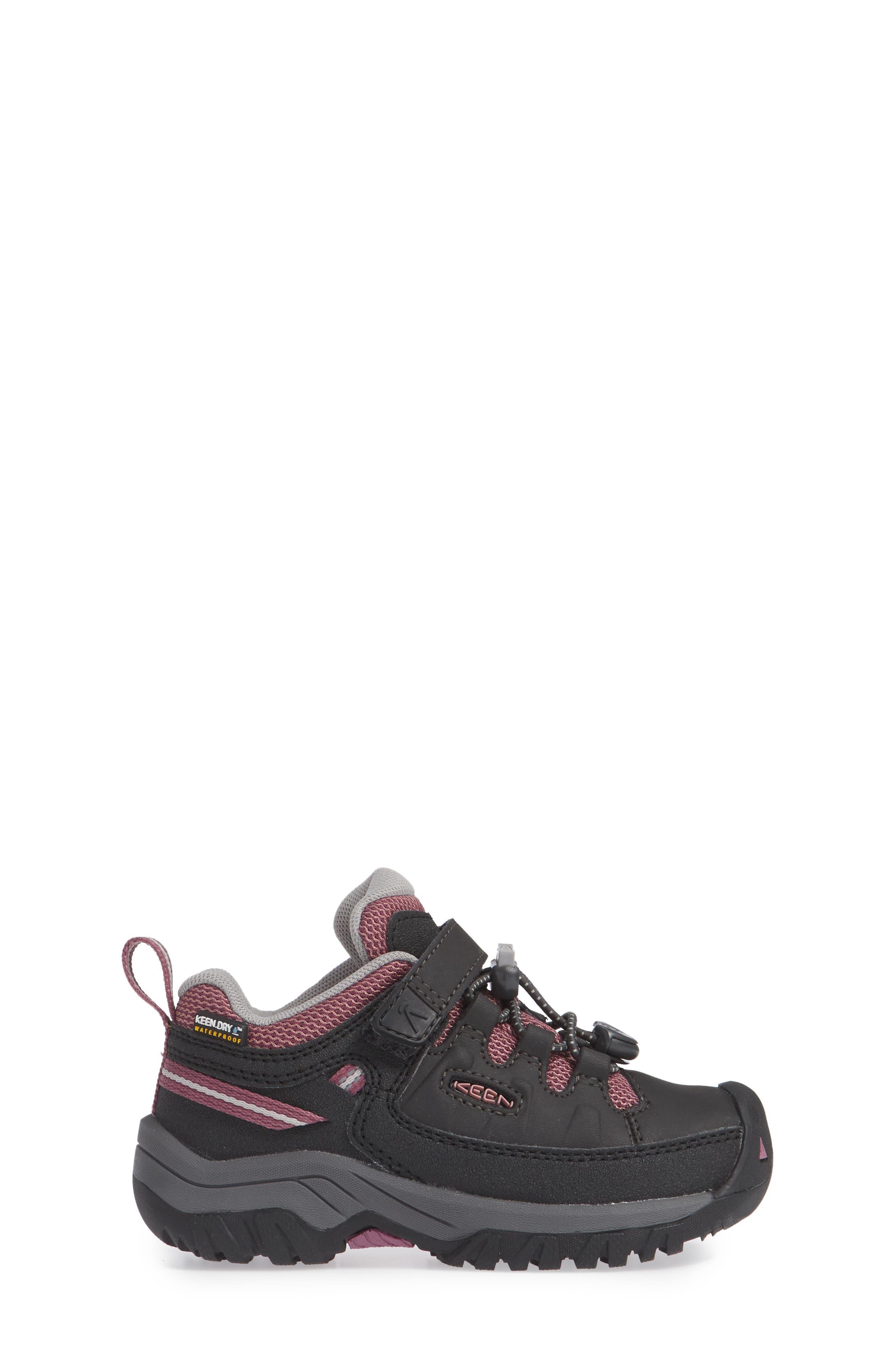 Targhee Low Waterproof Sneaker,                             Alternate thumbnail 3, color,                             RAVEN/ TULIPWOOD