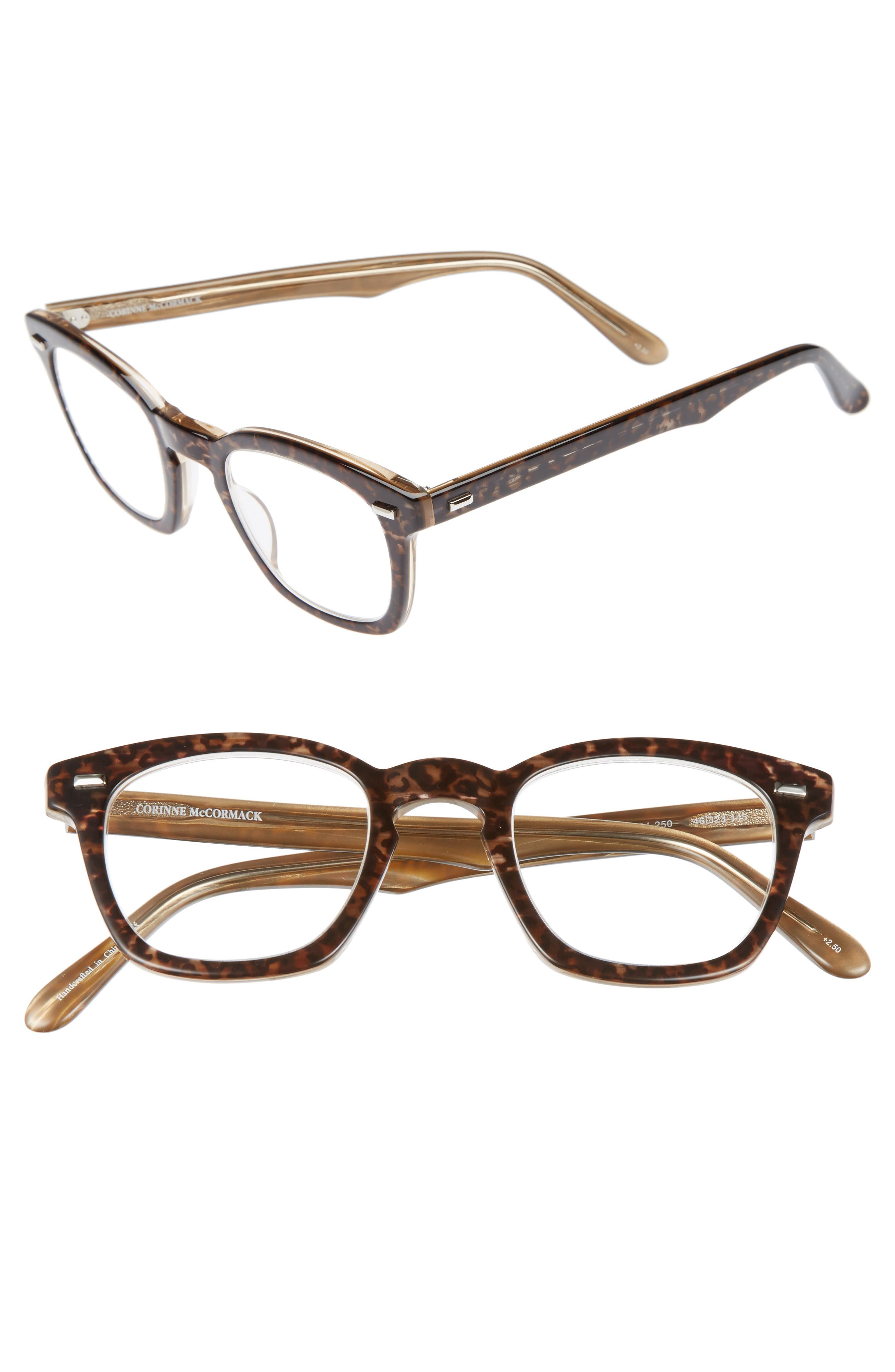 'Annie' 46mm Reading Glasses,                             Main thumbnail 1, color,                             BROWN