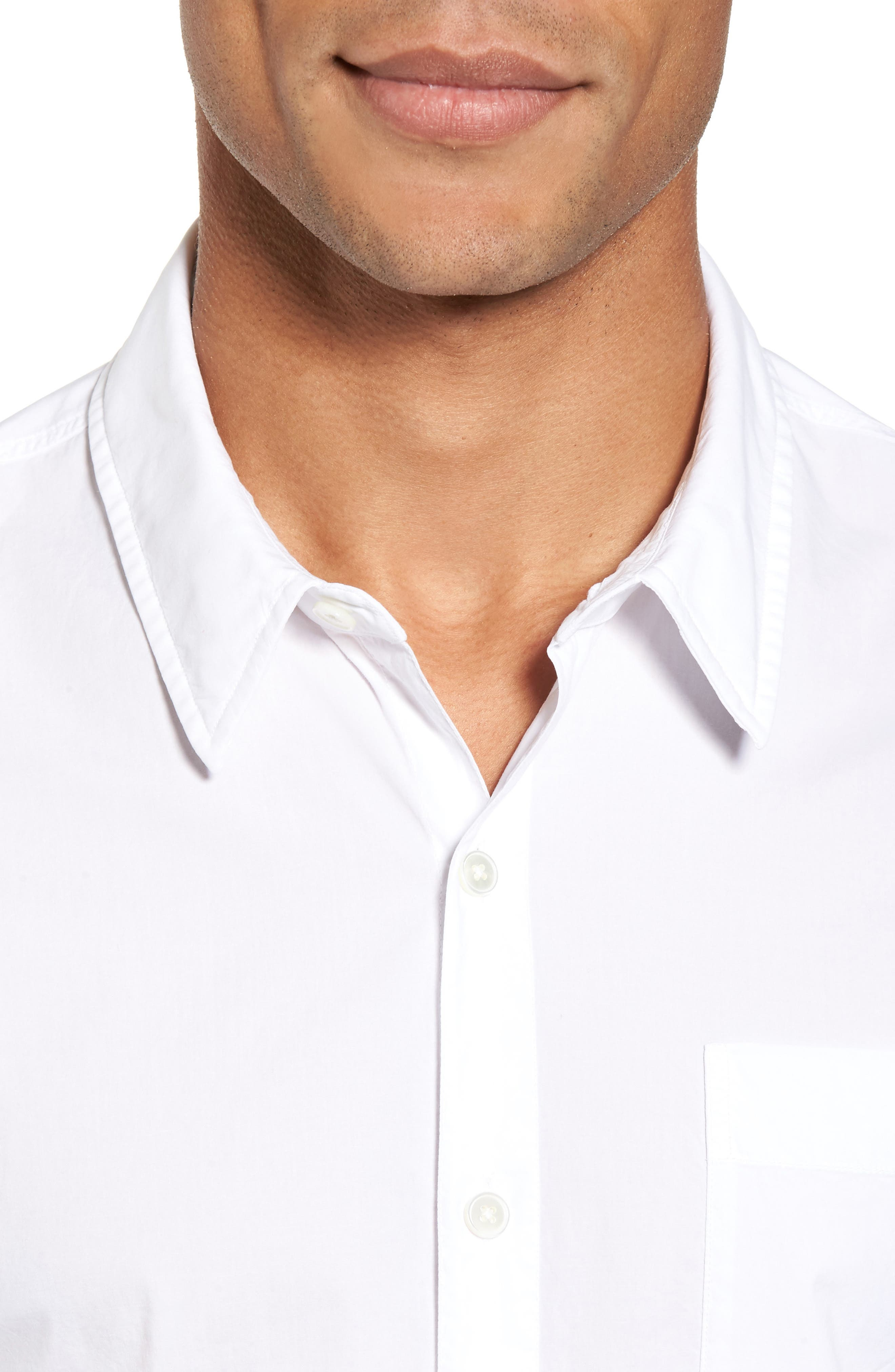Relaxed Fit Sport Shirt,                             Alternate thumbnail 4, color,                             100