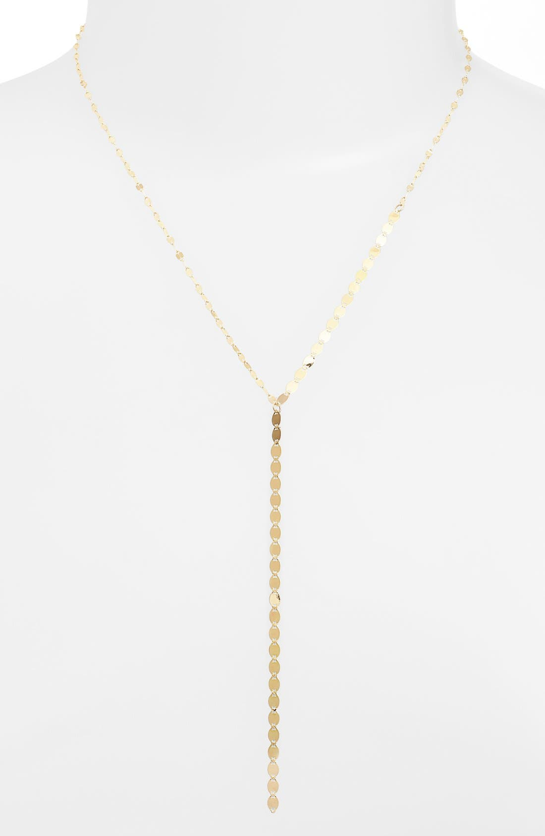 'Nude' Y-Necklace,                         Main,                         color, YELLOW GOLD
