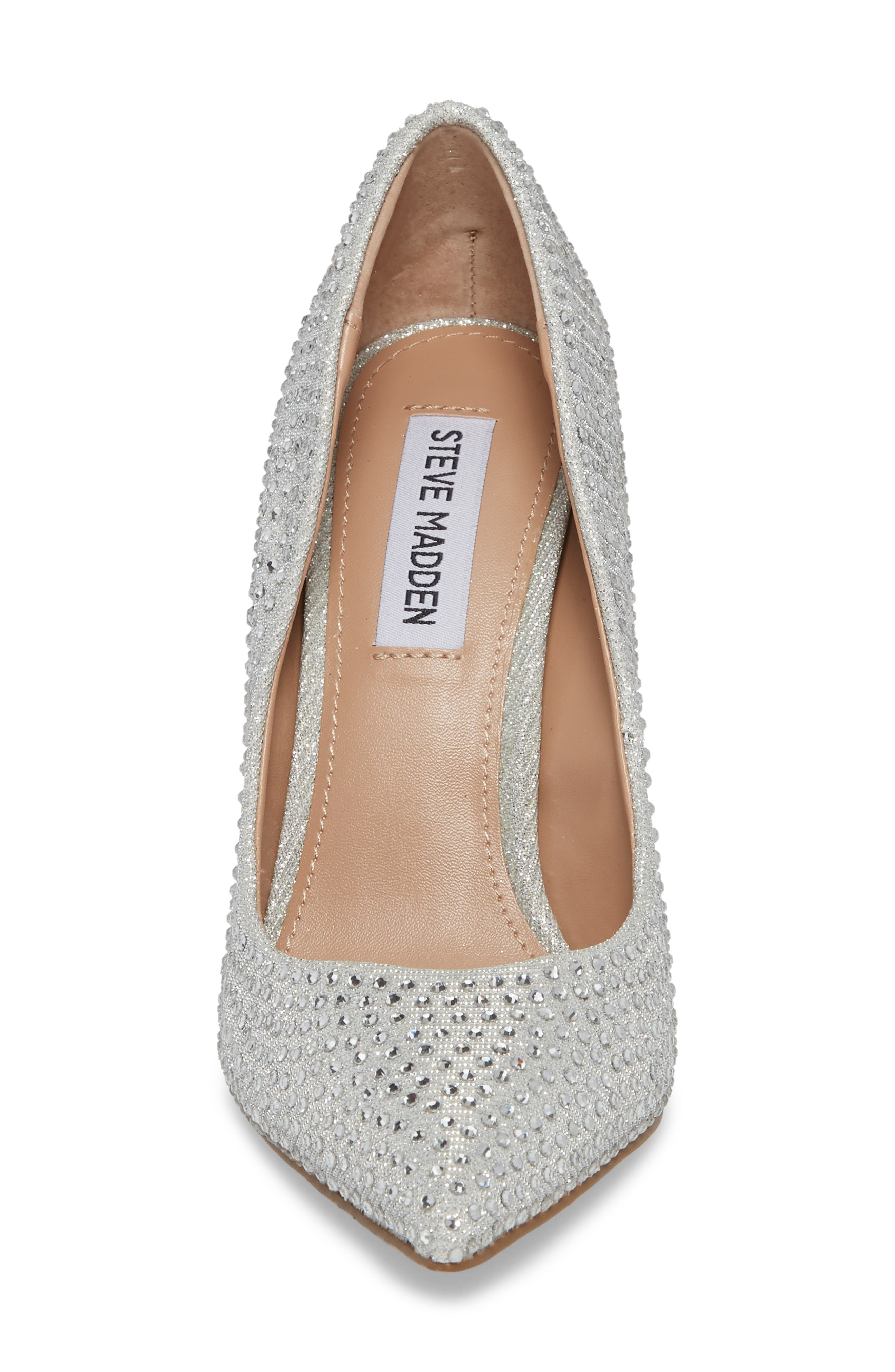 Daisie Pointy-Toe Pump,                             Alternate thumbnail 4, color,                             SILVER