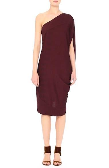 Lui Eco Drape One-Shoulder Dress, video thumbnail