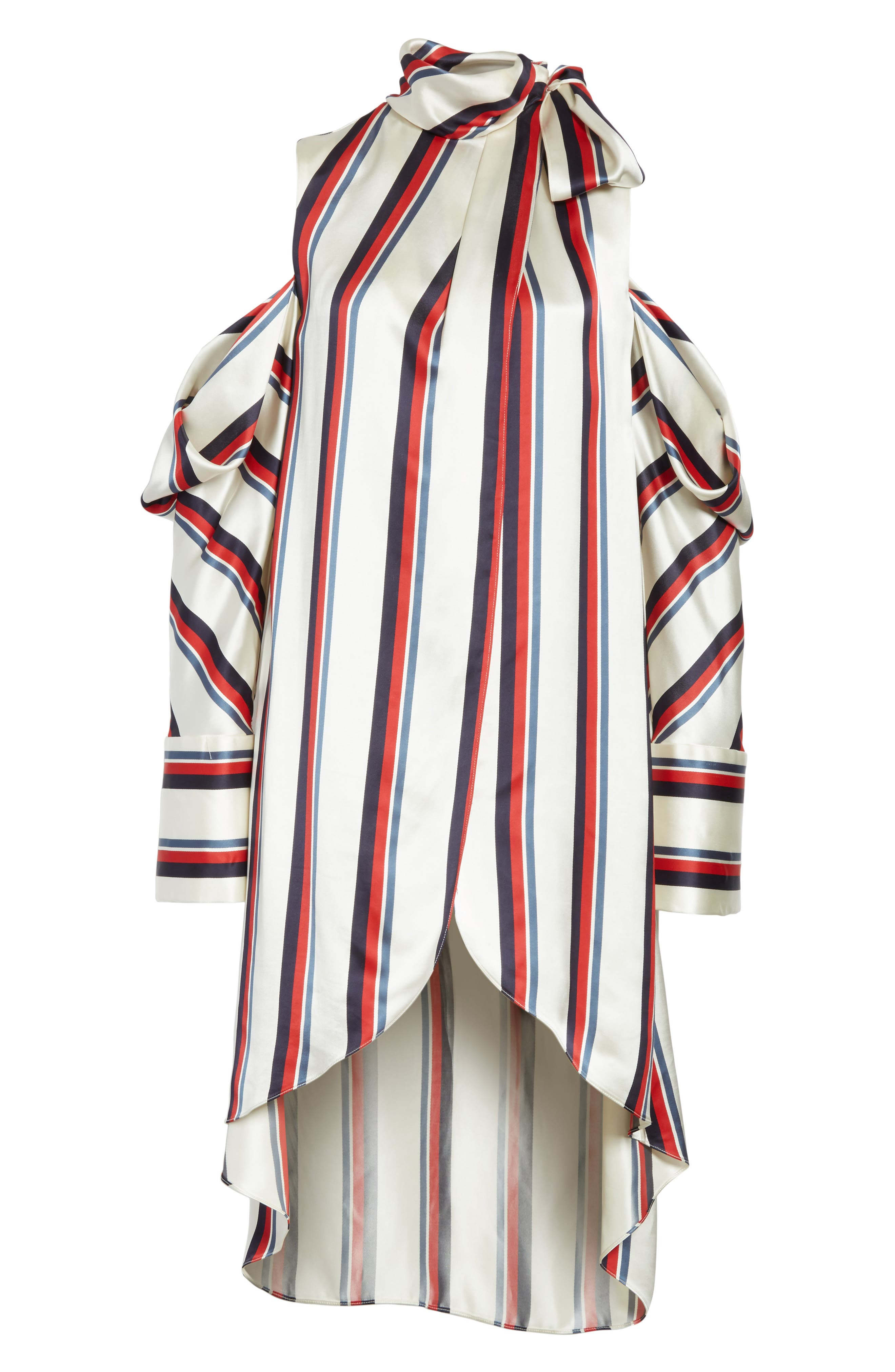 Stripe Off the Shoulder Blouse,                             Alternate thumbnail 6, color,