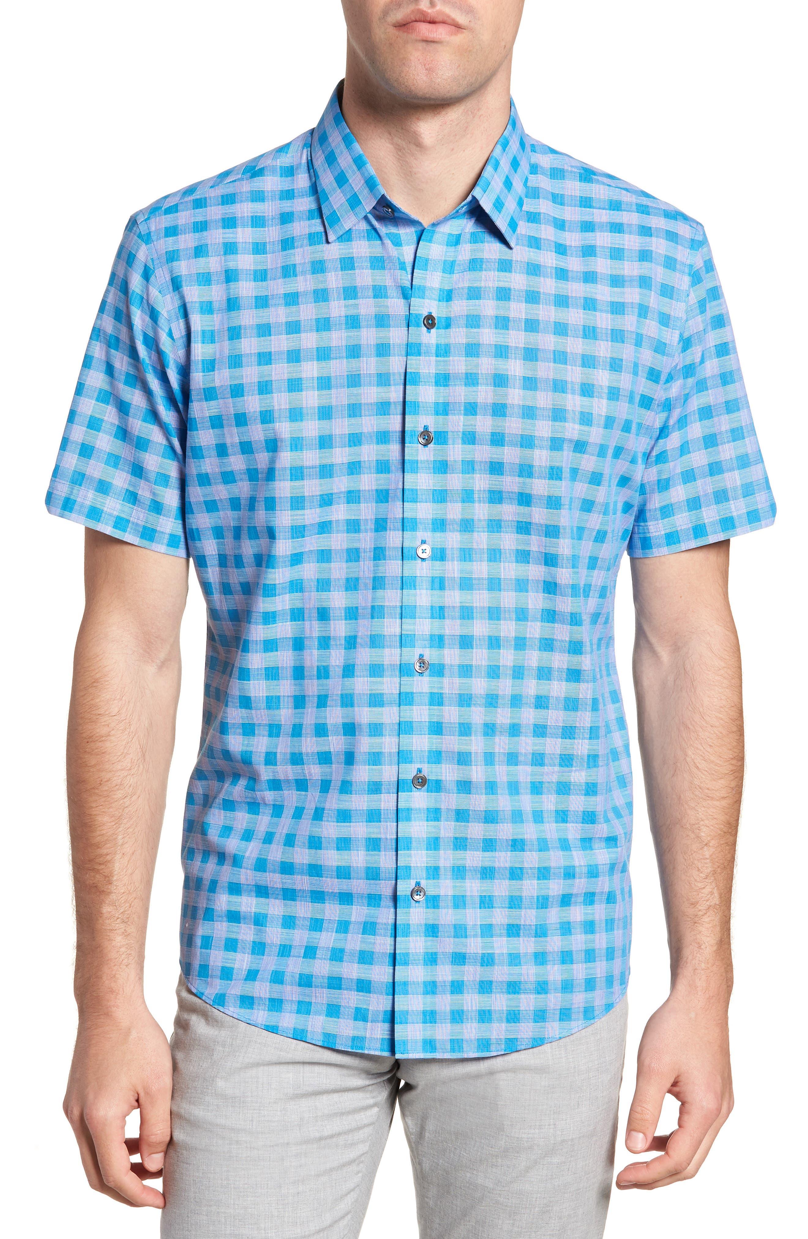 Ruder Regular Fit Check Sport Shirt,                         Main,                         color, 430