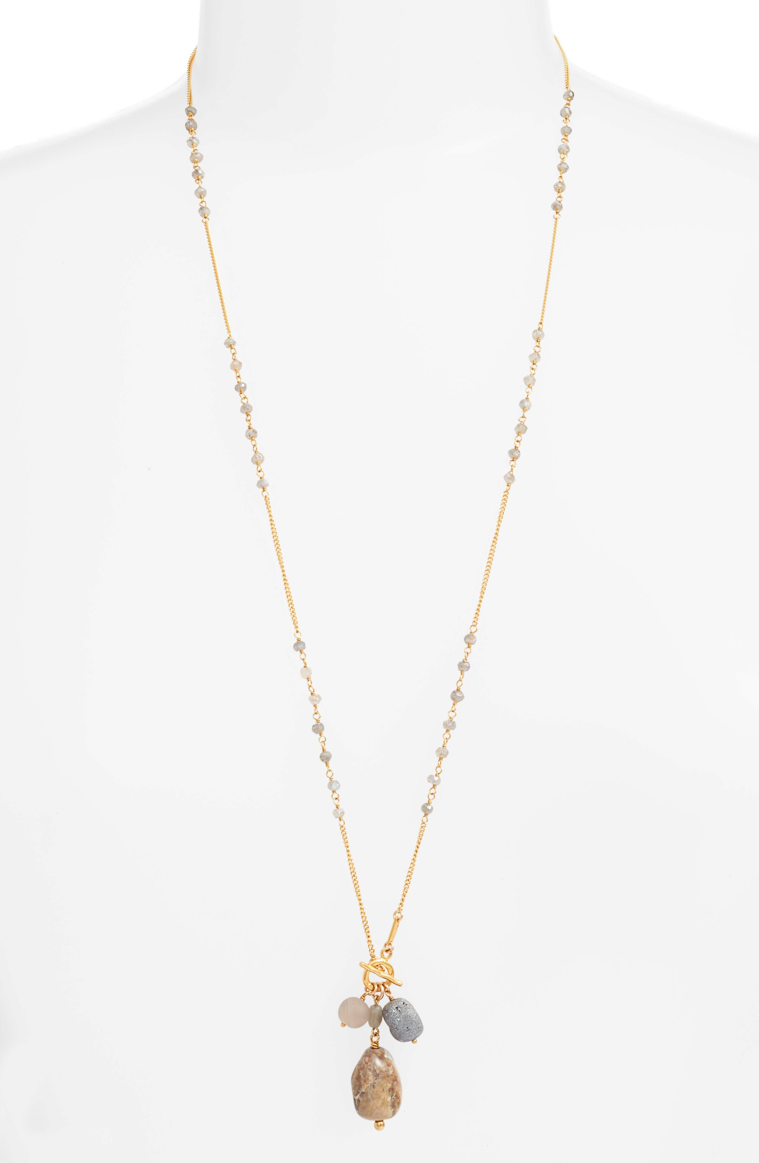 Mixed Stone Pendant Necklace,                             Main thumbnail 1, color,                             020