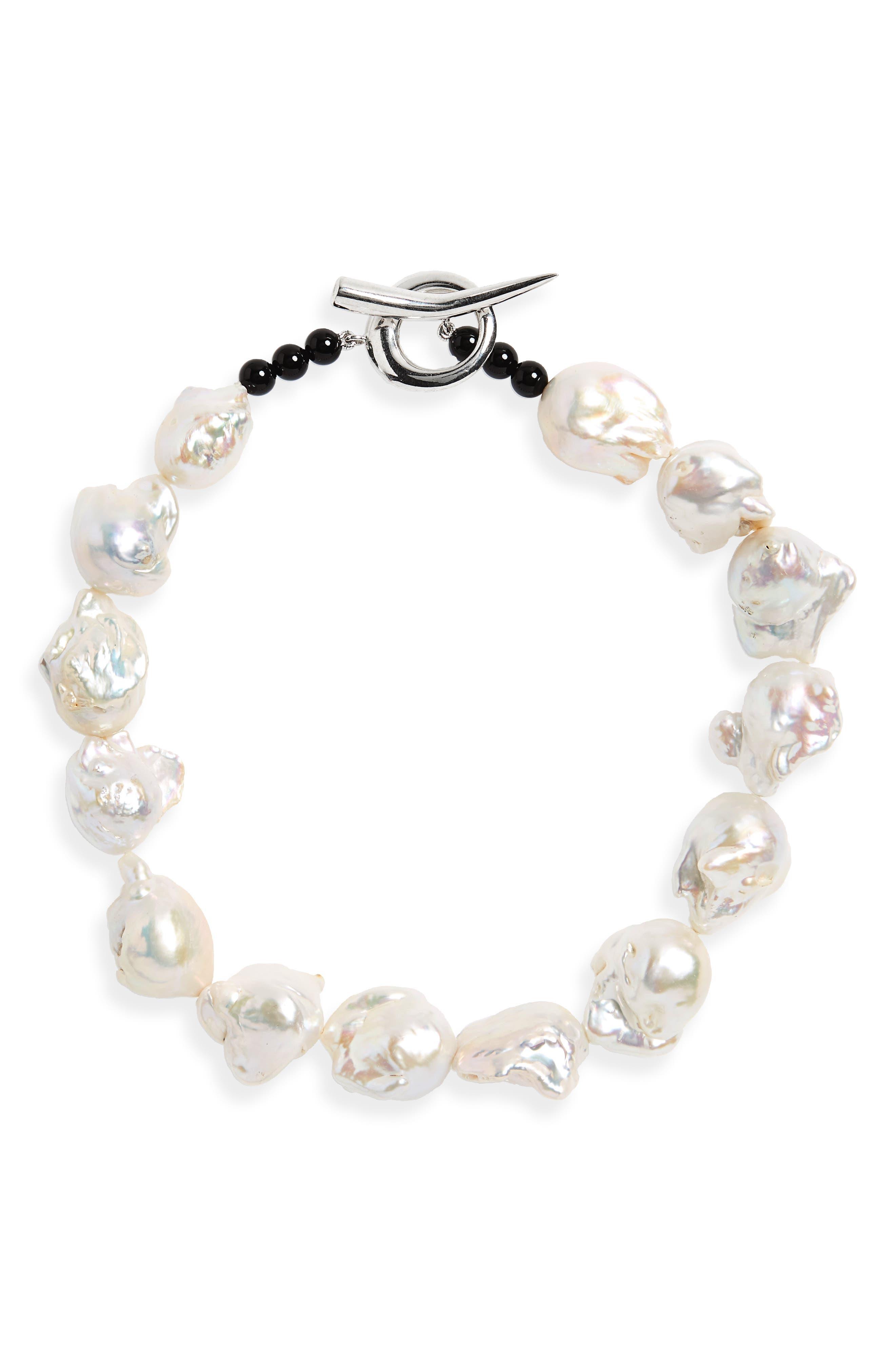 Baroque Pearl Collar Necklace,                         Main,                         color, 040