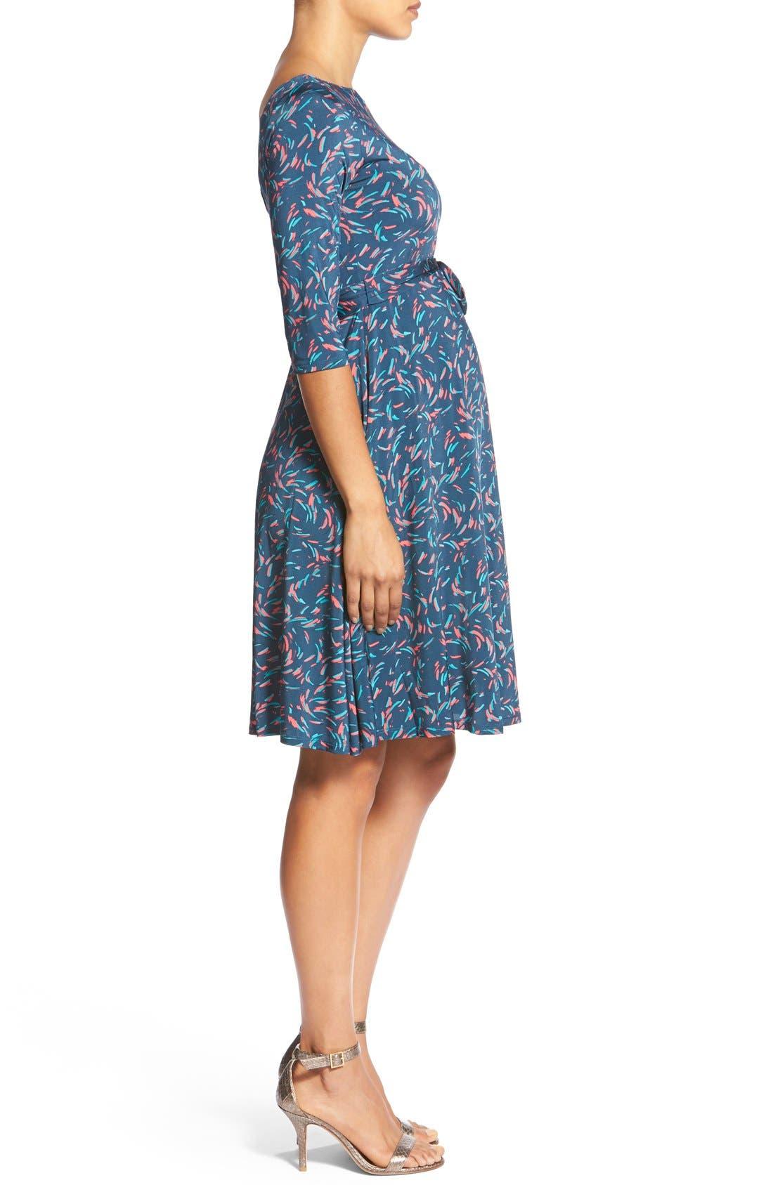 'Ilana' Belted Maternity Dress,                             Alternate thumbnail 26, color,