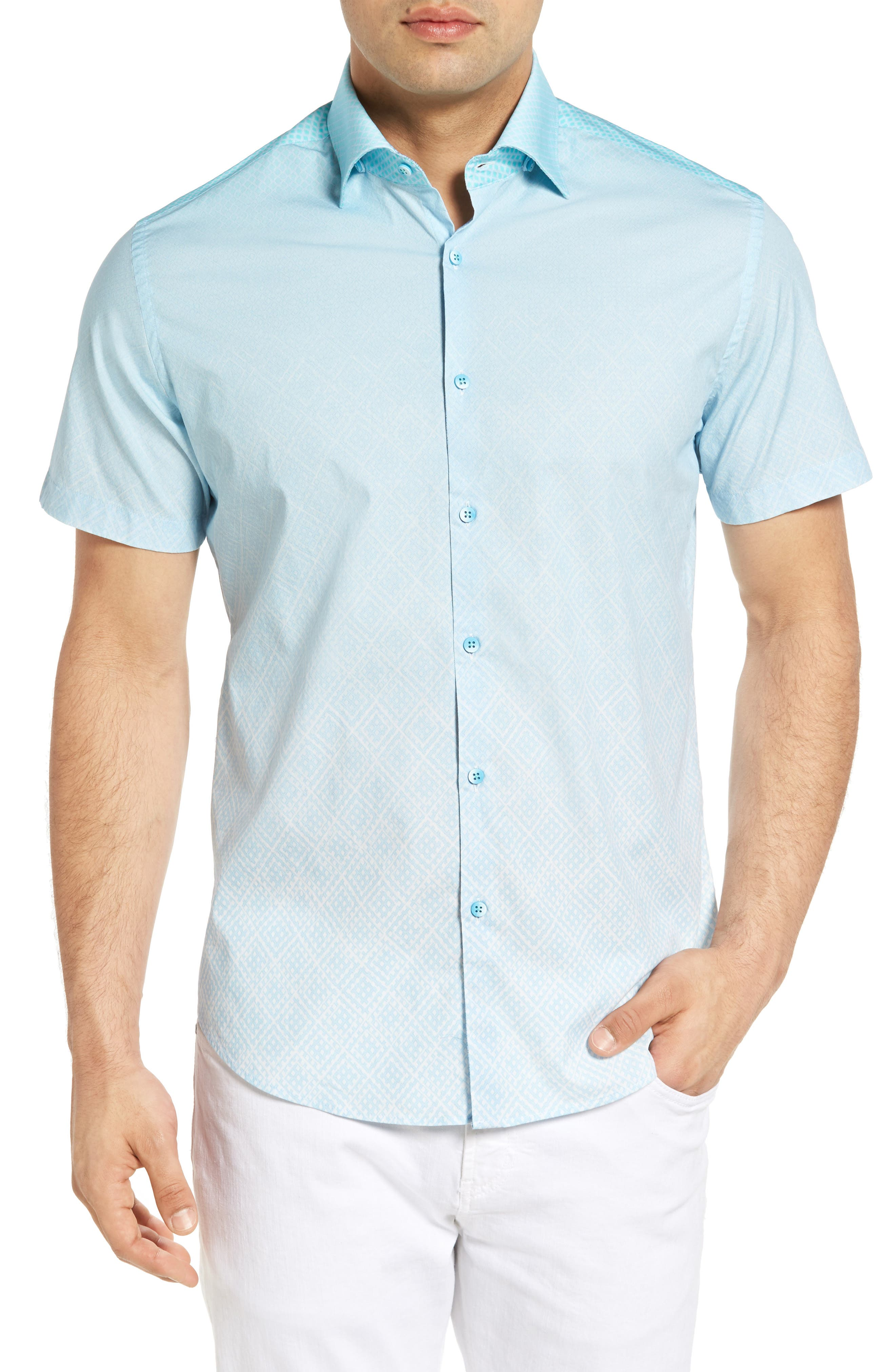 Gradient Diamond Sport Shirt,                             Main thumbnail 1, color,                             330