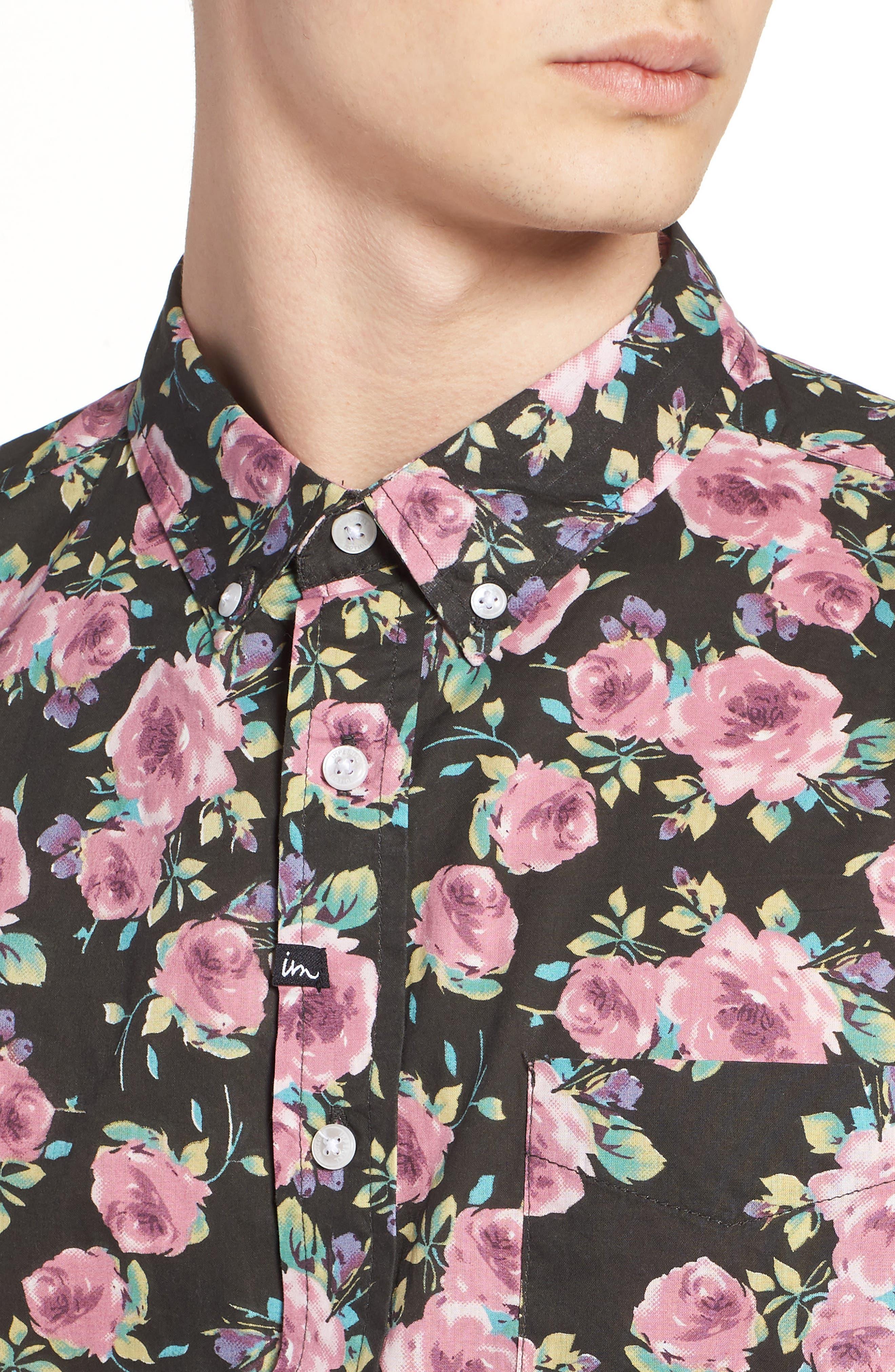 Nueva Woven Shirt,                             Alternate thumbnail 4, color,                             001