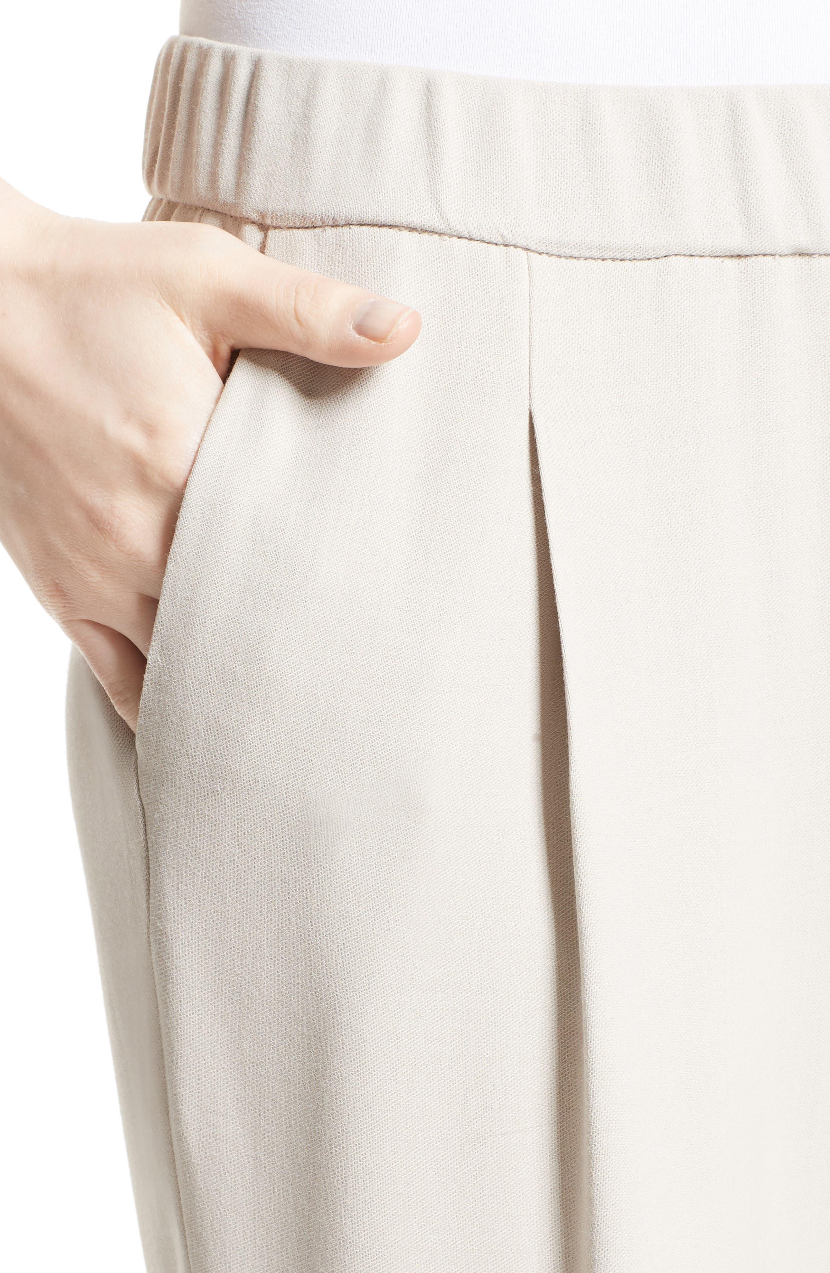 Woven Crop Pants,                             Alternate thumbnail 4, color,                             101