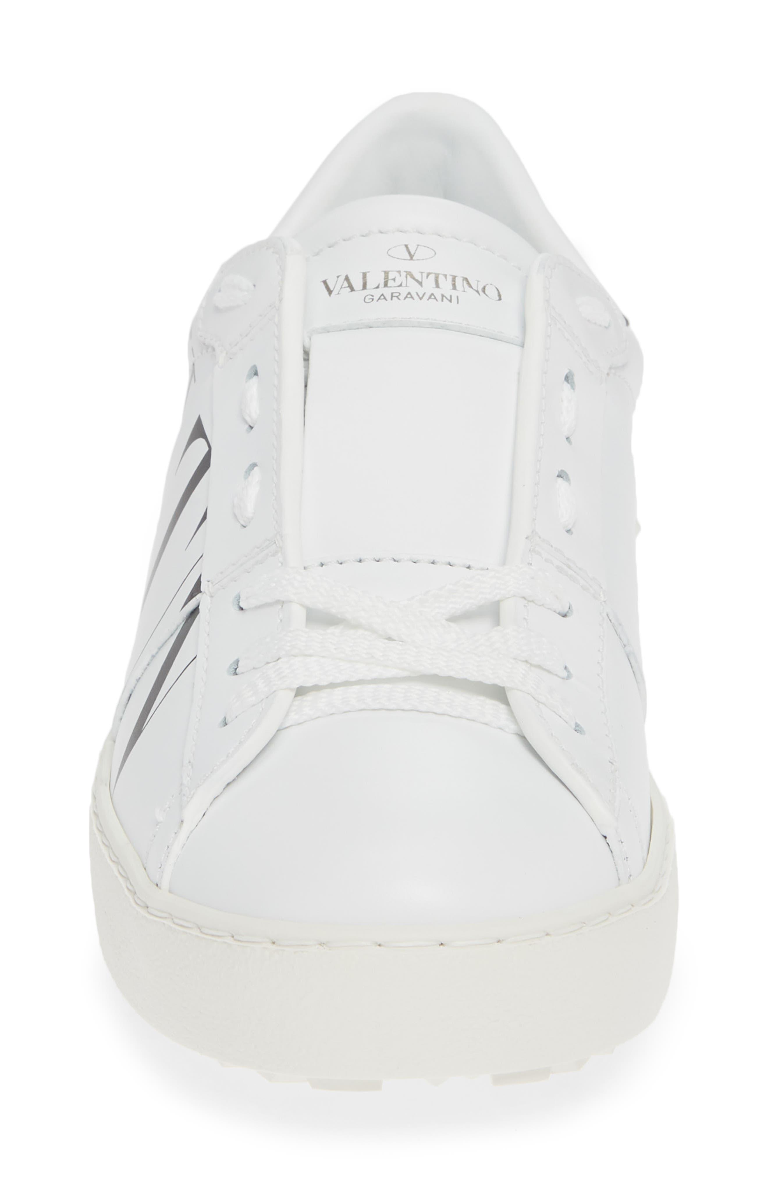 VALENTINO GARAVANI,                             VLTN Logo Low Top Sneaker,                             Alternate thumbnail 4, color,                             102
