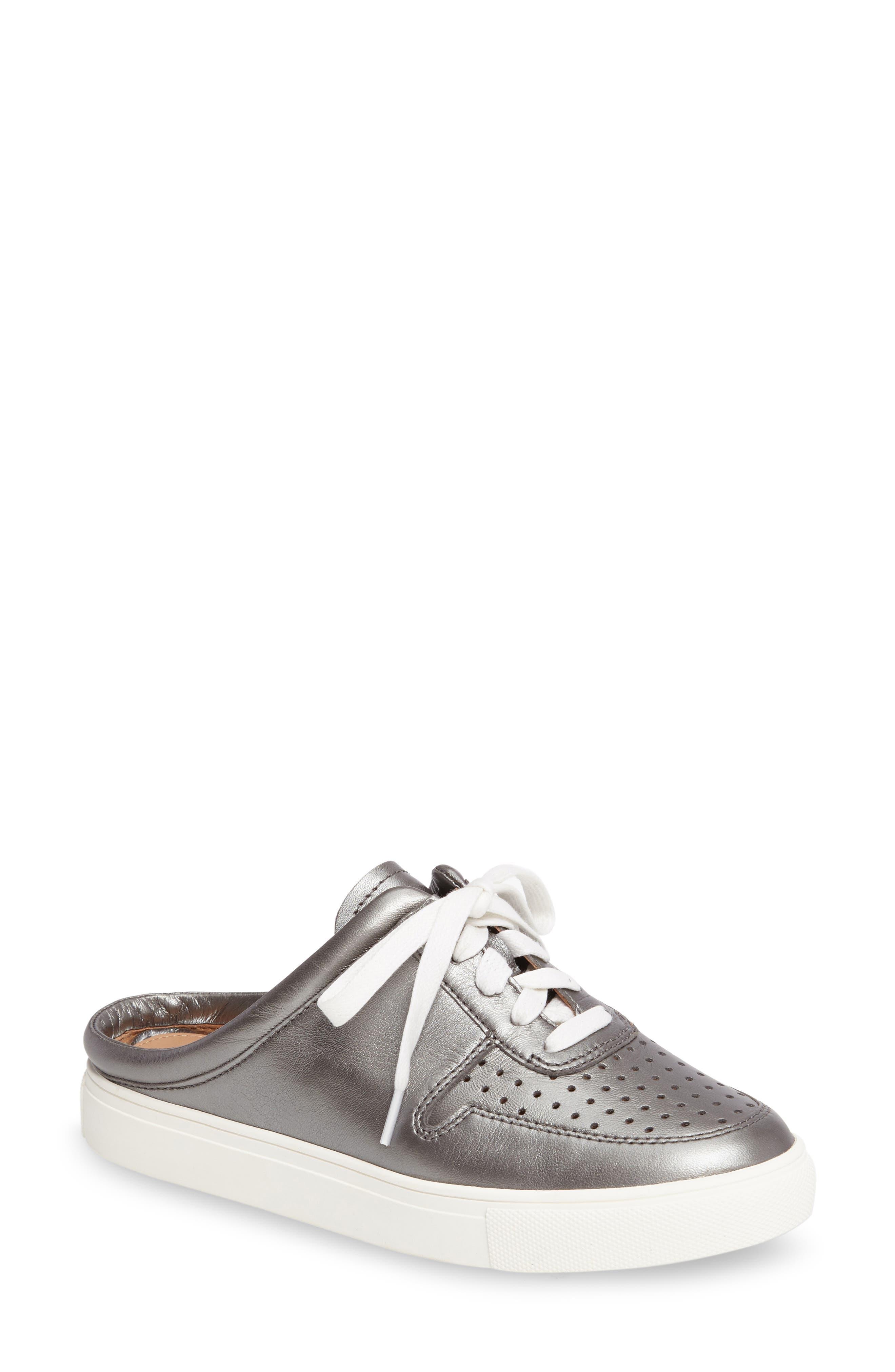Kacy Perforated Slide Sneaker,                             Main thumbnail 1, color,                             040