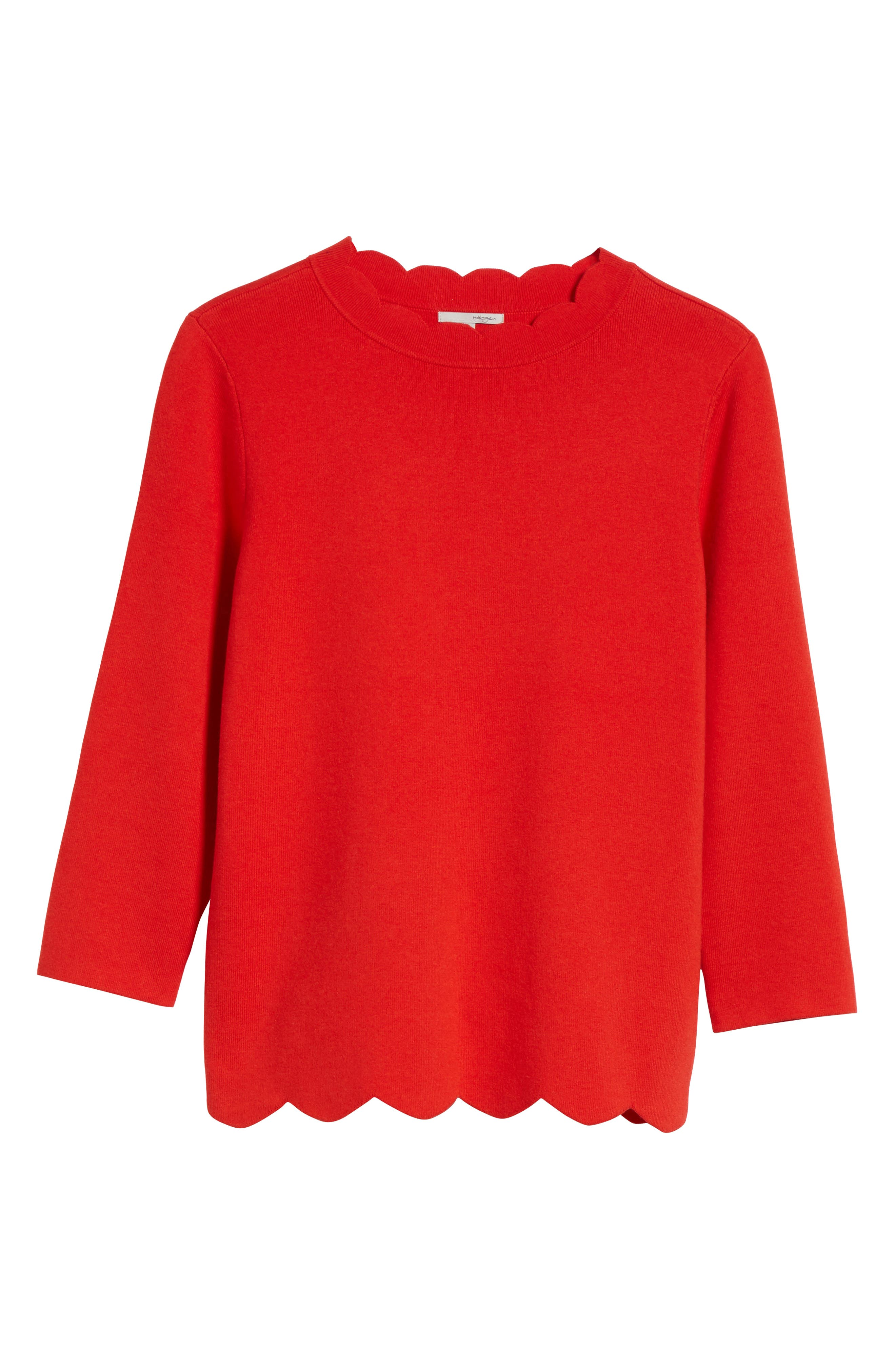 Halogen Scallop Edge Sweater,                             Alternate thumbnail 63, color,