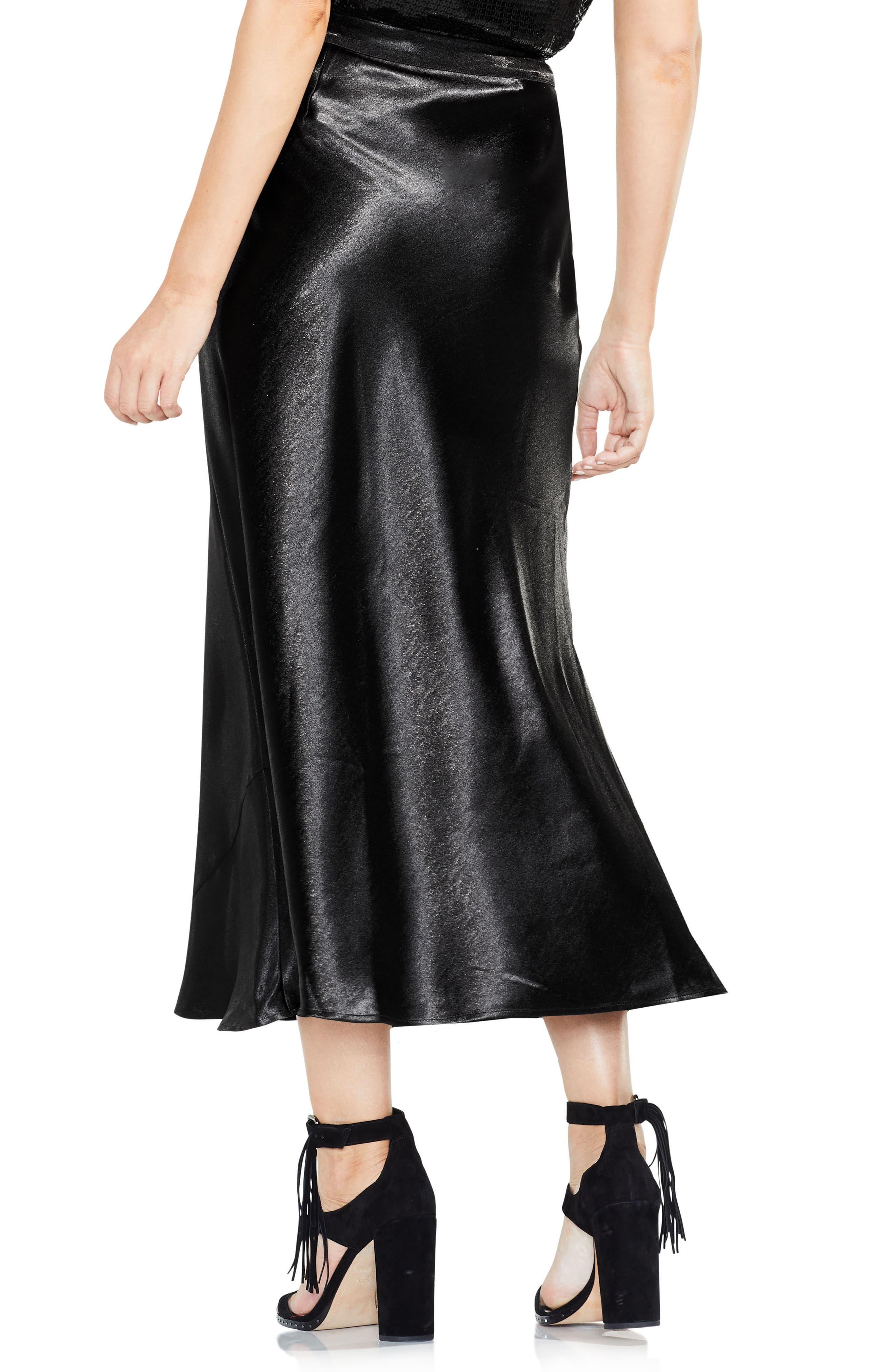 Hammered Satin Maxi Skirt,                             Alternate thumbnail 2, color,                             006