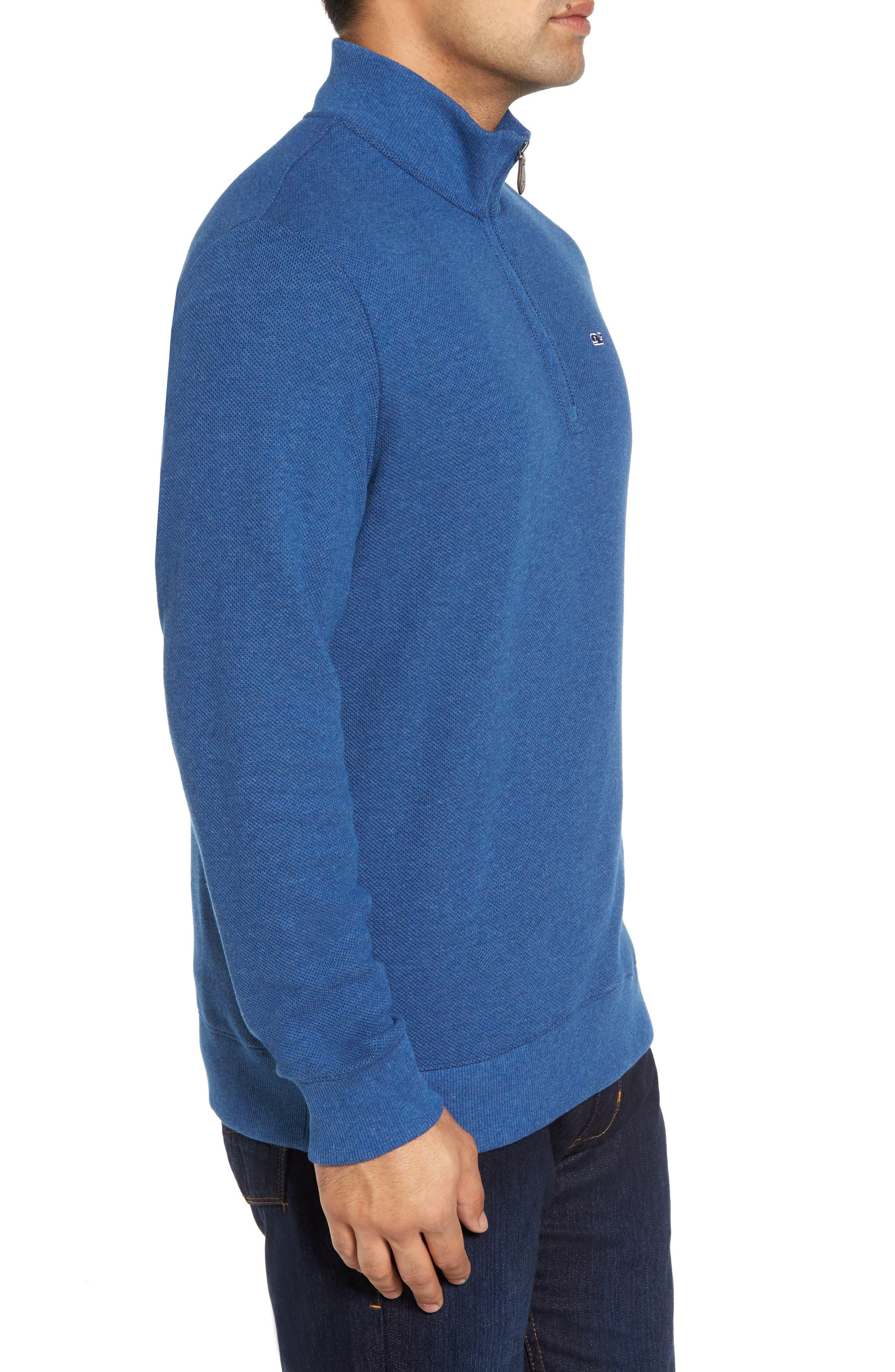 Double-Knit Quarter Zip Pullover,                             Alternate thumbnail 3, color,                             461