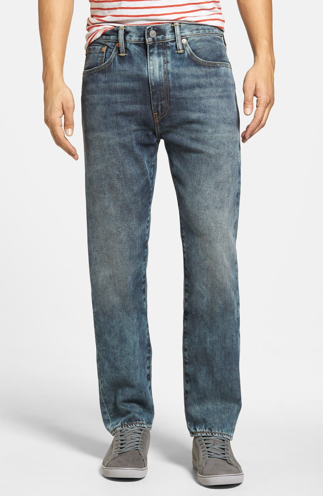 LEVI'S<SUP>®</SUP>,                             '522<sup>™</sup>' Slim Tapered Fit Jeans,                             Main thumbnail 1, color,                             423