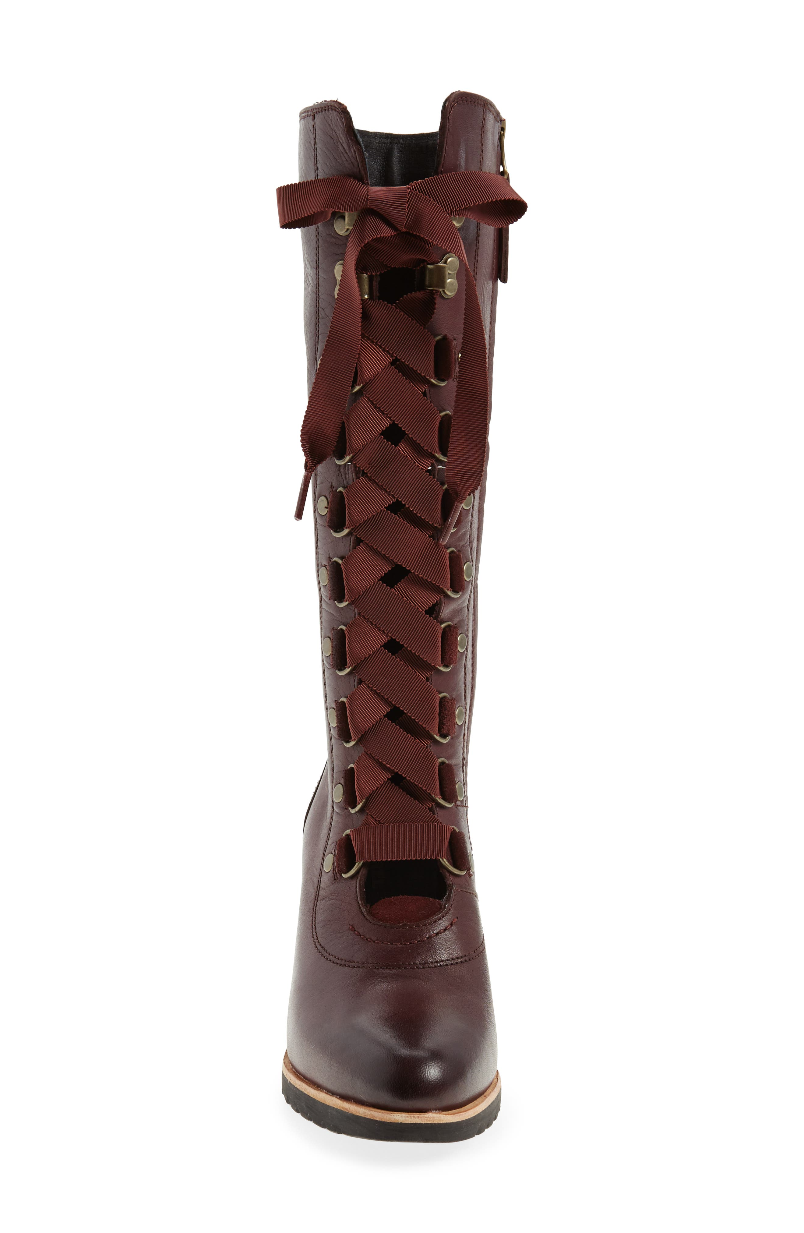 After Hours Lace Up Wedge Boot,                             Alternate thumbnail 8, color,