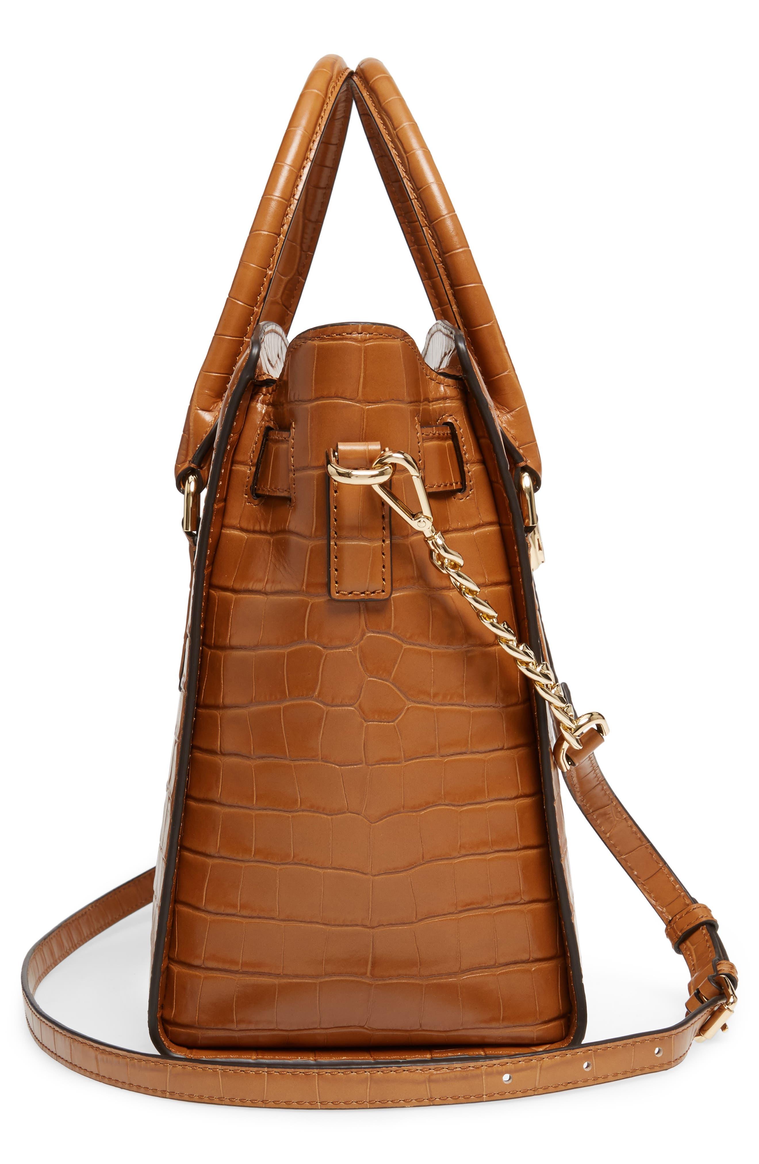 Large Hamilton Leather Satchel,                             Alternate thumbnail 5, color,