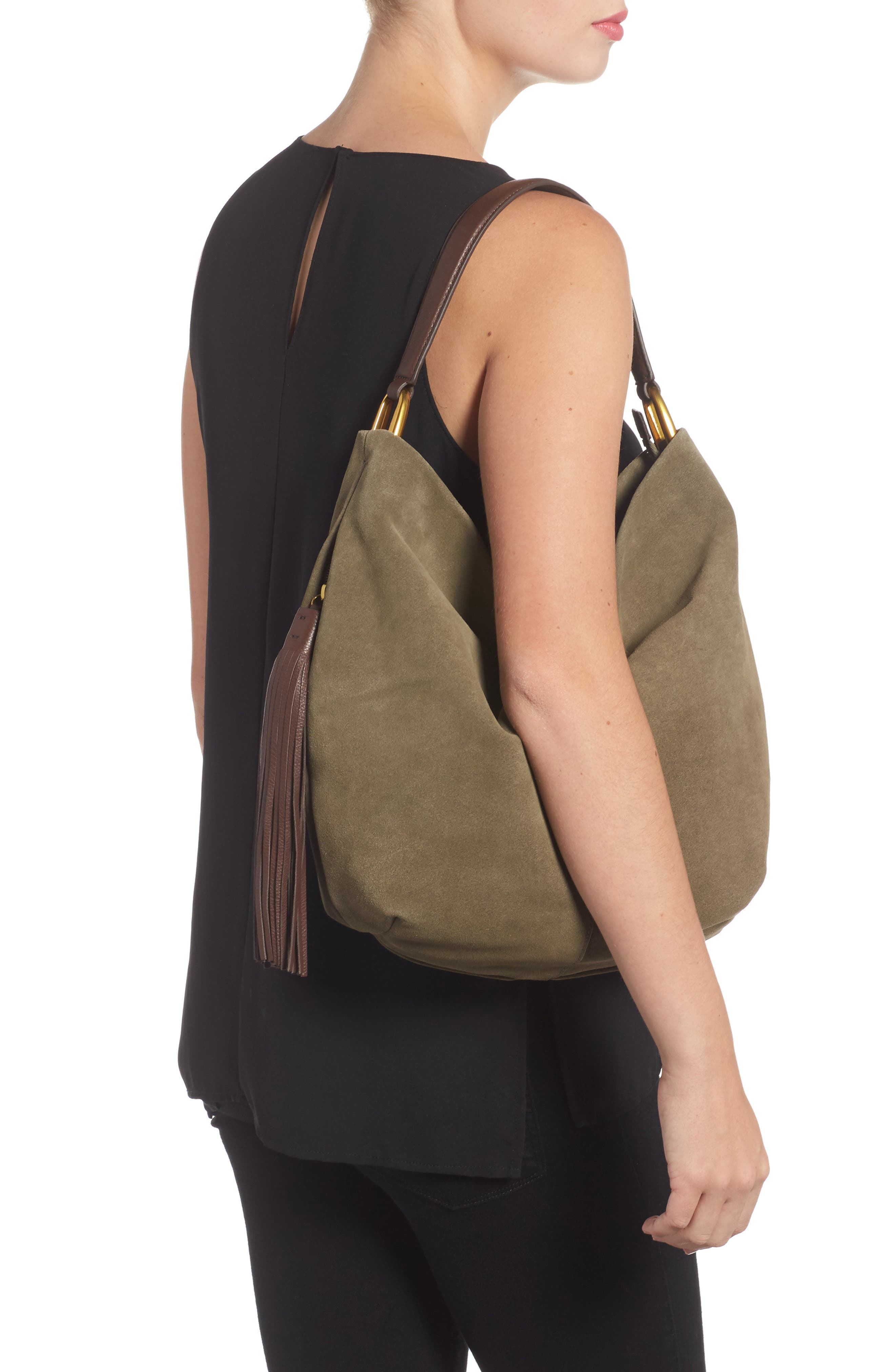 Meridian Suede Hobo,                             Alternate thumbnail 2, color,                             311