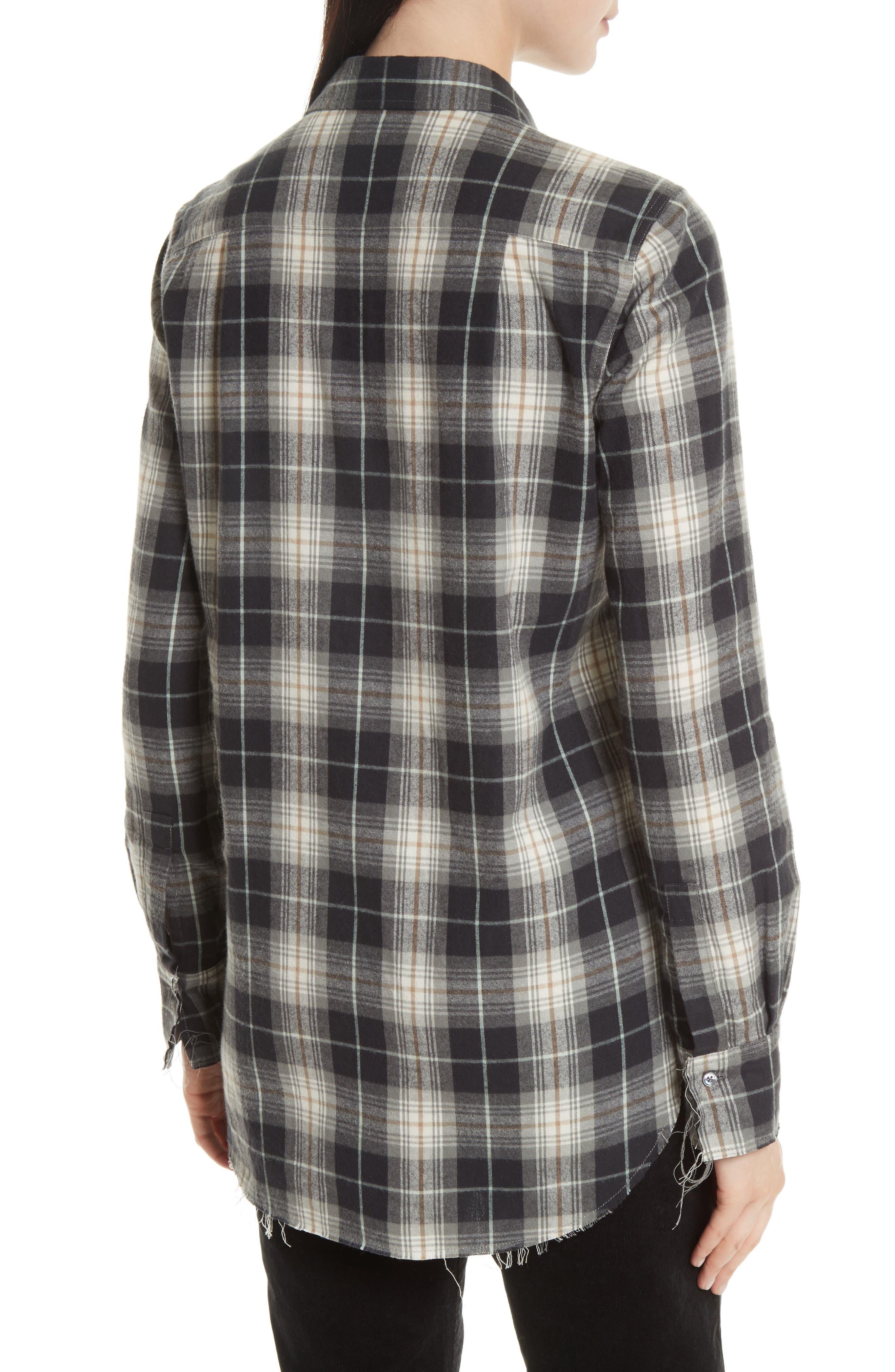 Tartan Plaid Oversize Shirt,                             Alternate thumbnail 2, color,