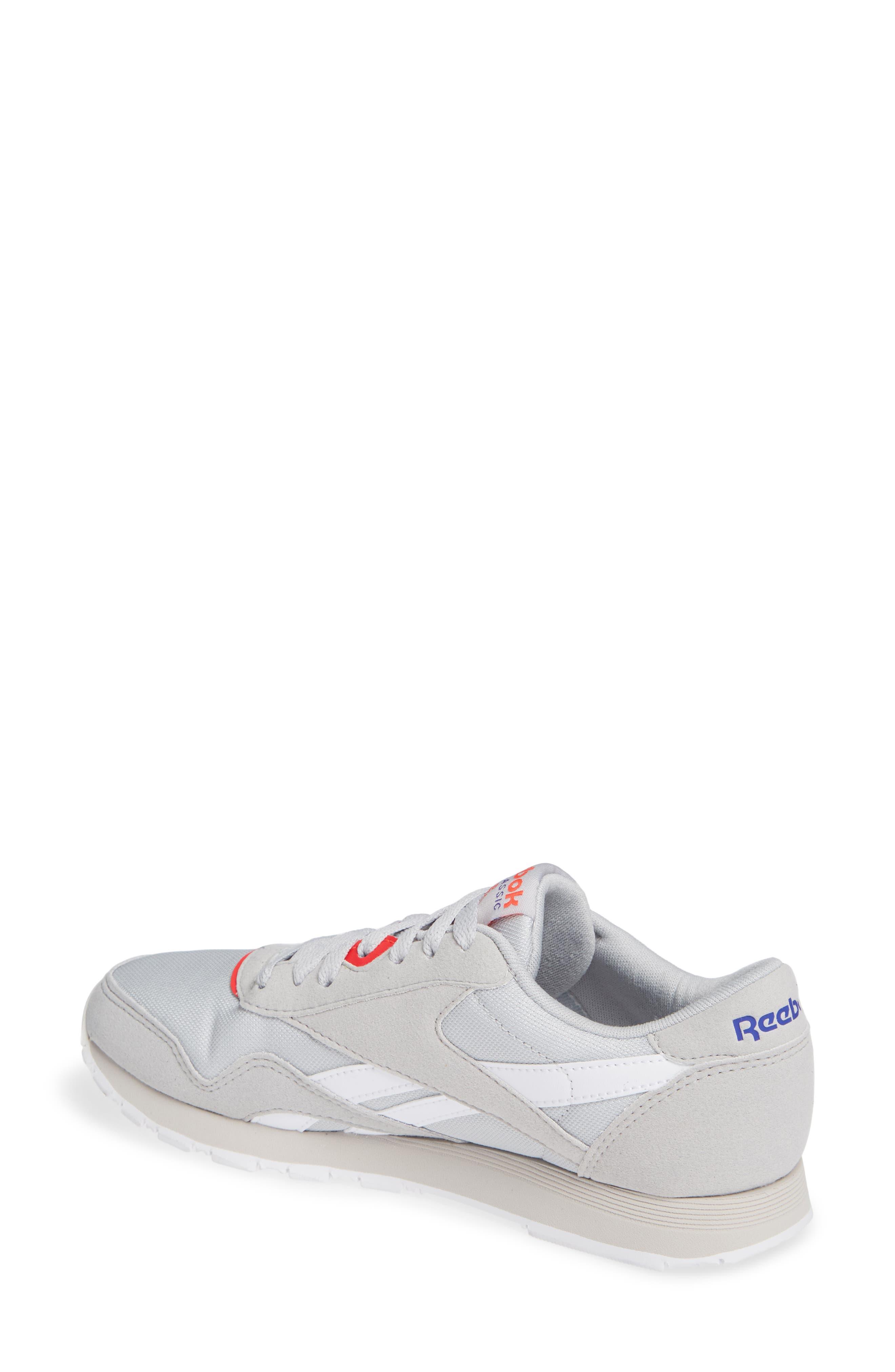 Classic Nylon TXT Sneaker,                             Alternate thumbnail 2, color,                             GREY/ NEON CHERRY/ PURPLE