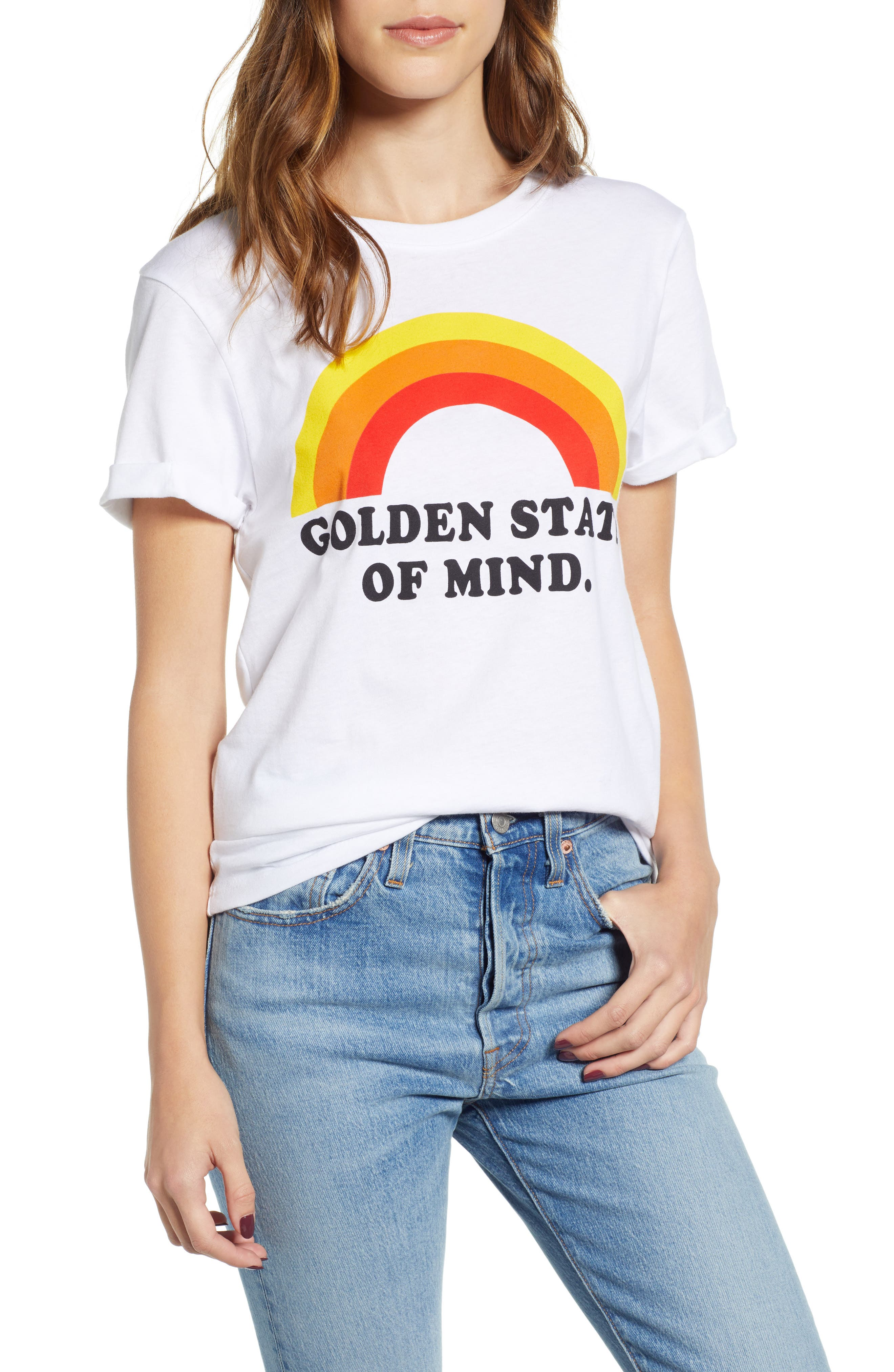 PRINCE PETER Golden State Of Mind Graphic Tee in White