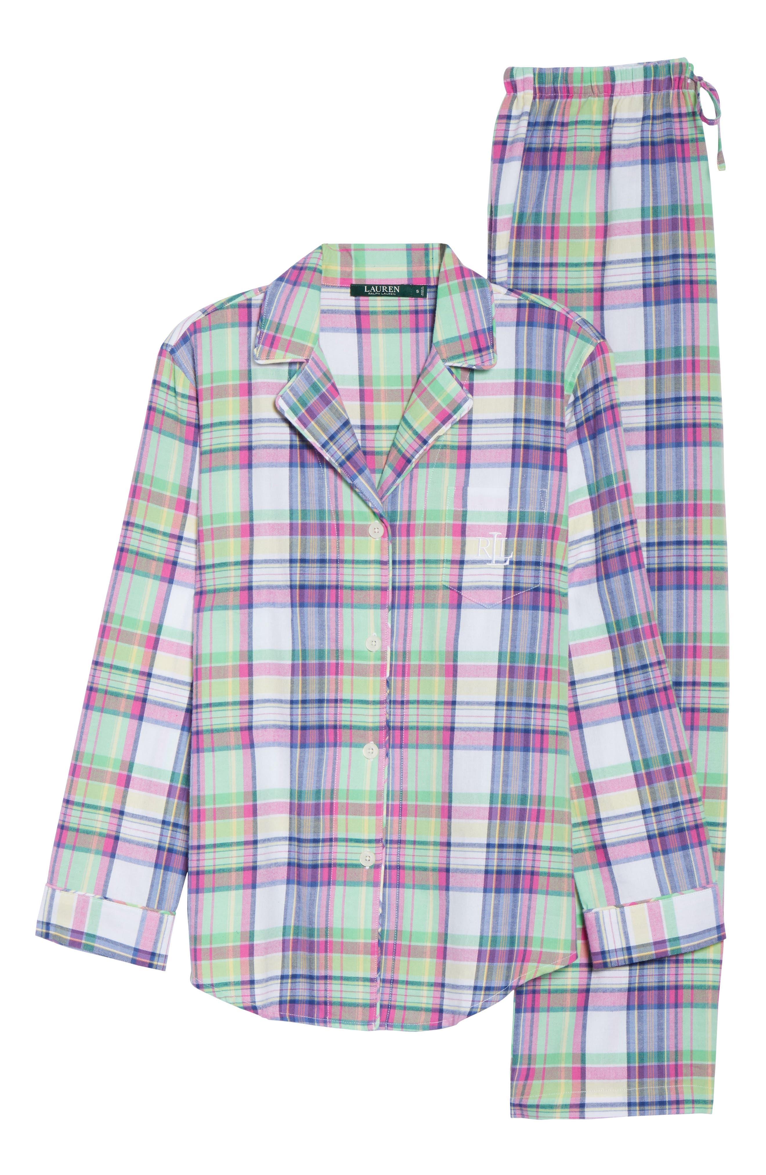 Notch Collar Pajamas,                             Alternate thumbnail 6, color,                             304