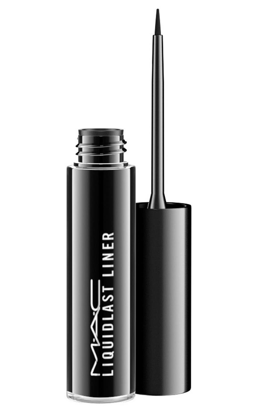 MAC Liquidlast Liner,                             Main thumbnail 1, color,                             POINT BLACK