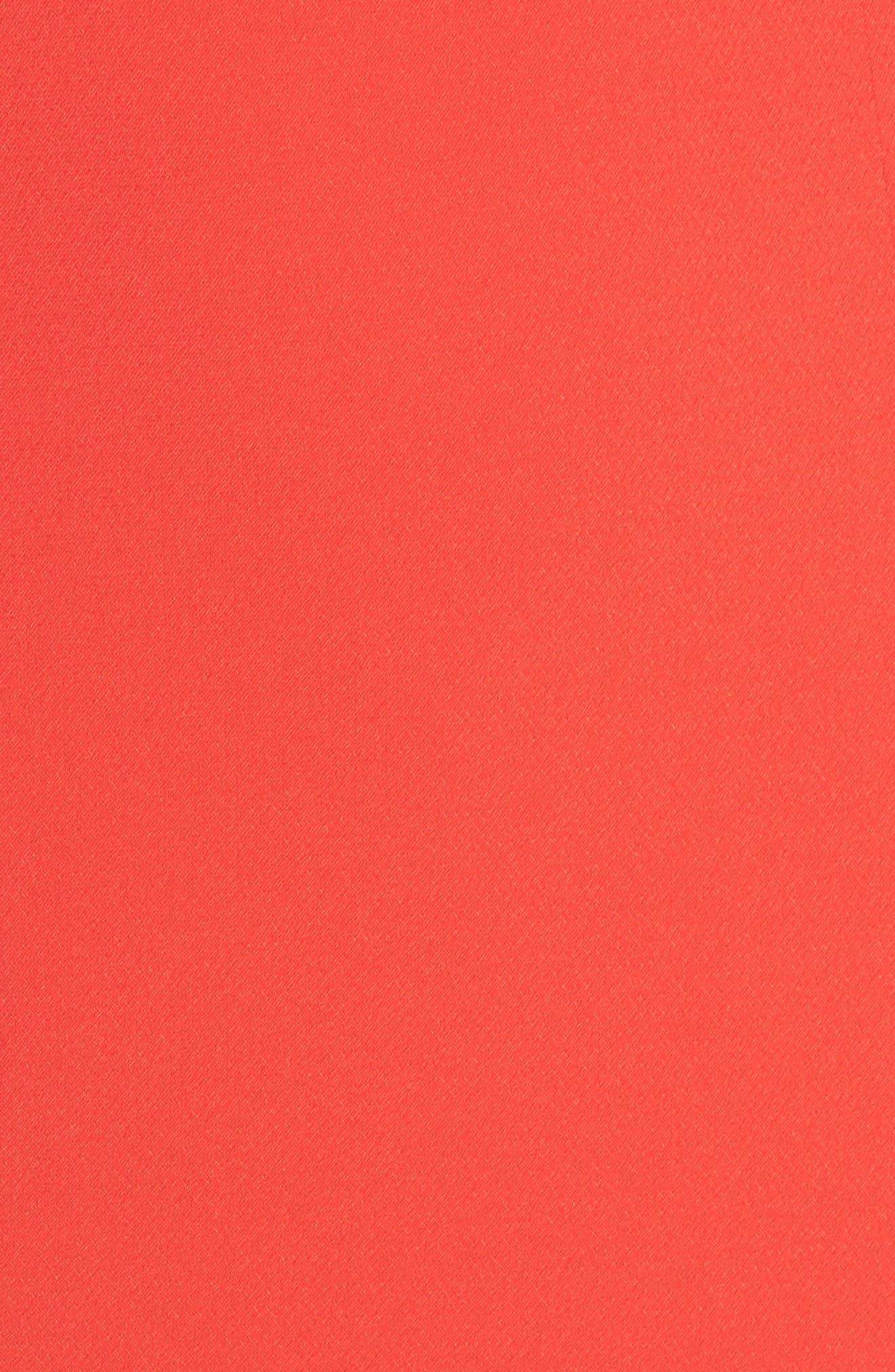 Crepe Popover Halter Gown,                             Alternate thumbnail 5, color,                             602