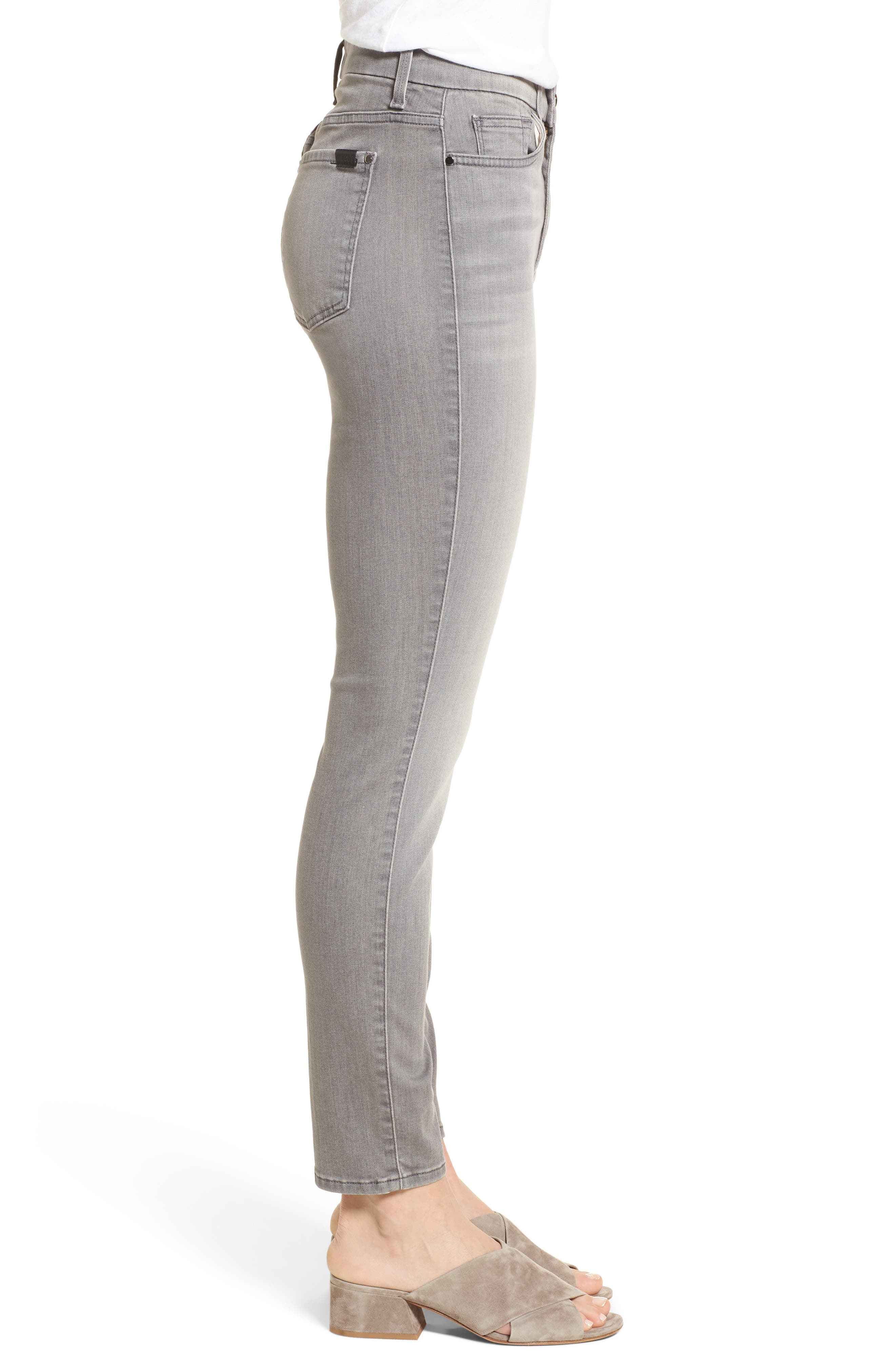 Stretch Ankle Skinny Jeans,                             Alternate thumbnail 3, color,                             RICHE TOUCH MARBLE GREY