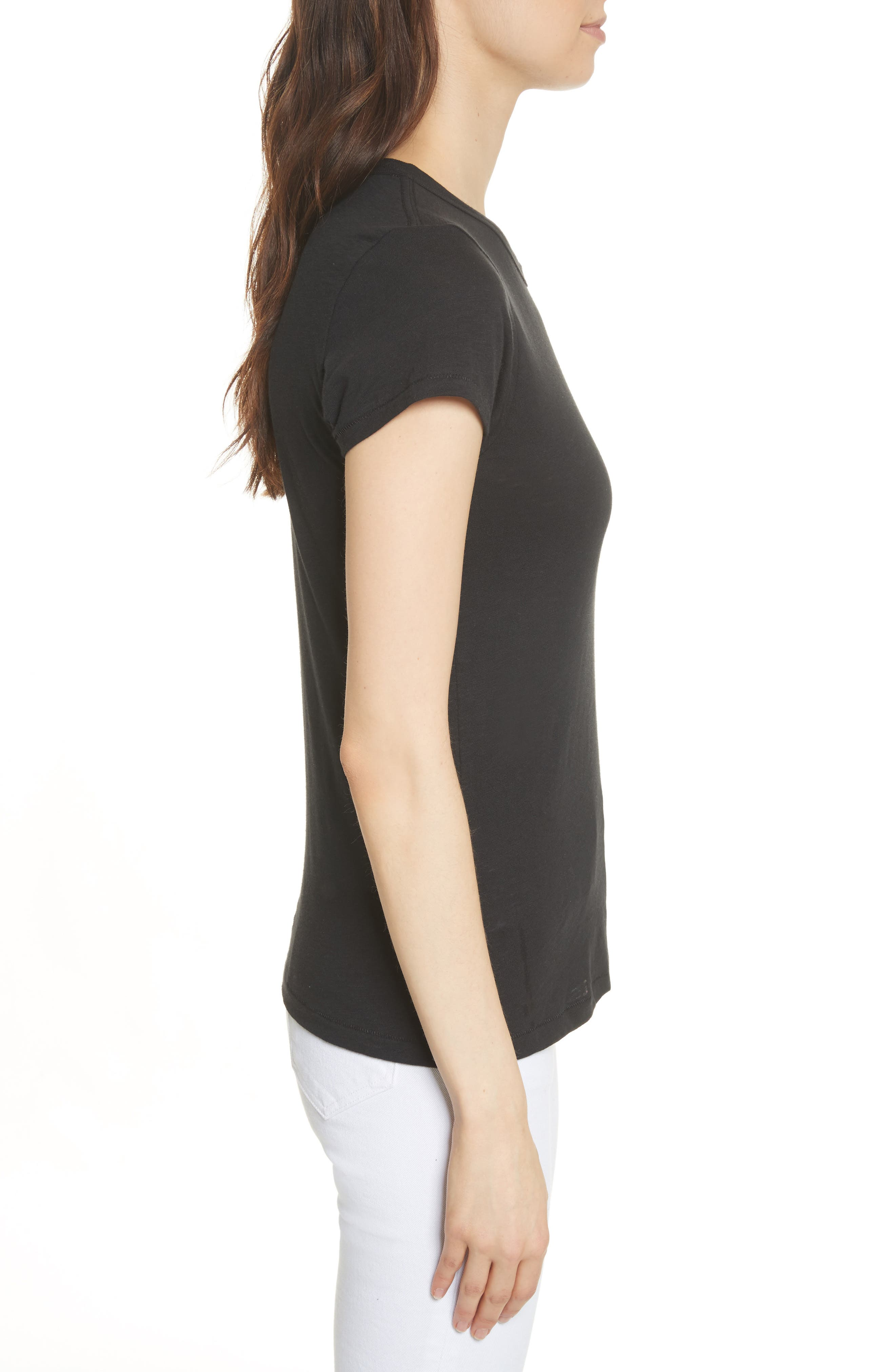 rag & bone The Tee,                             Alternate thumbnail 3, color,                             001
