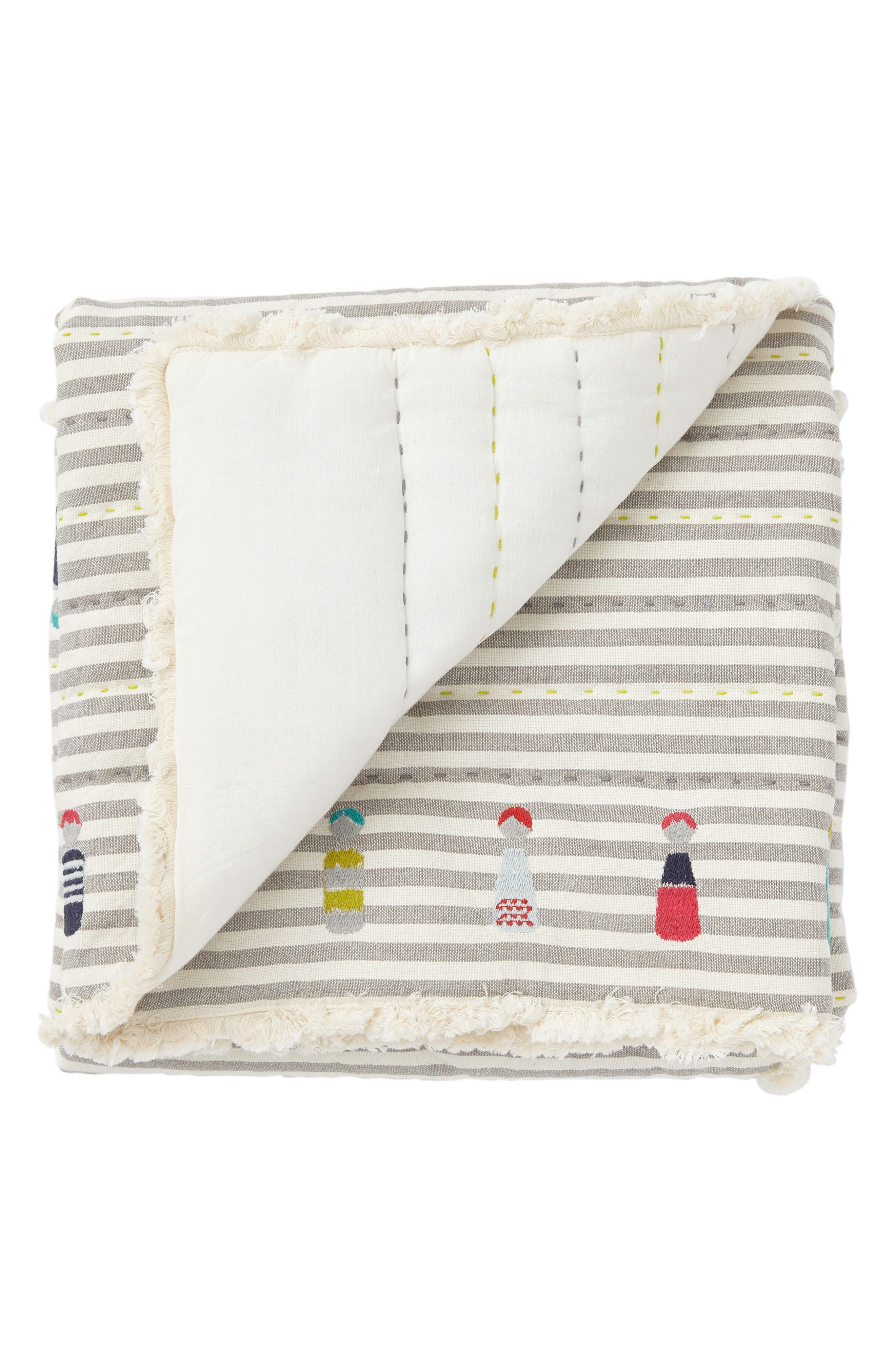 Little Peeps Play Blanket,                             Main thumbnail 1, color,                             GREY