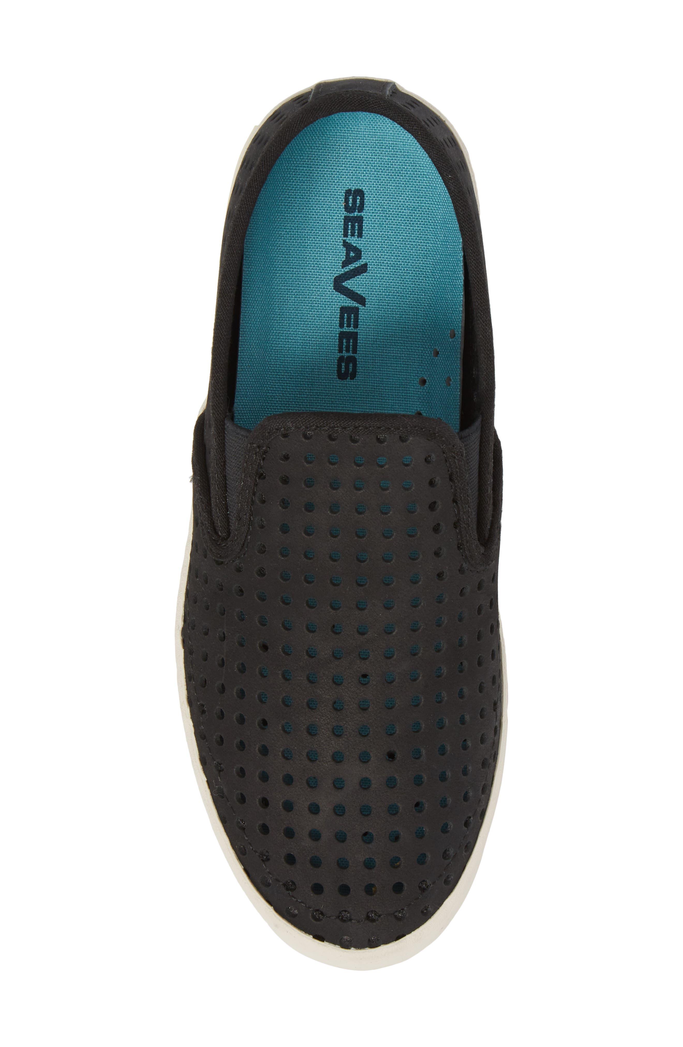 Baja Perforated Slip-On Sneaker,                             Alternate thumbnail 5, color,                             BLACK