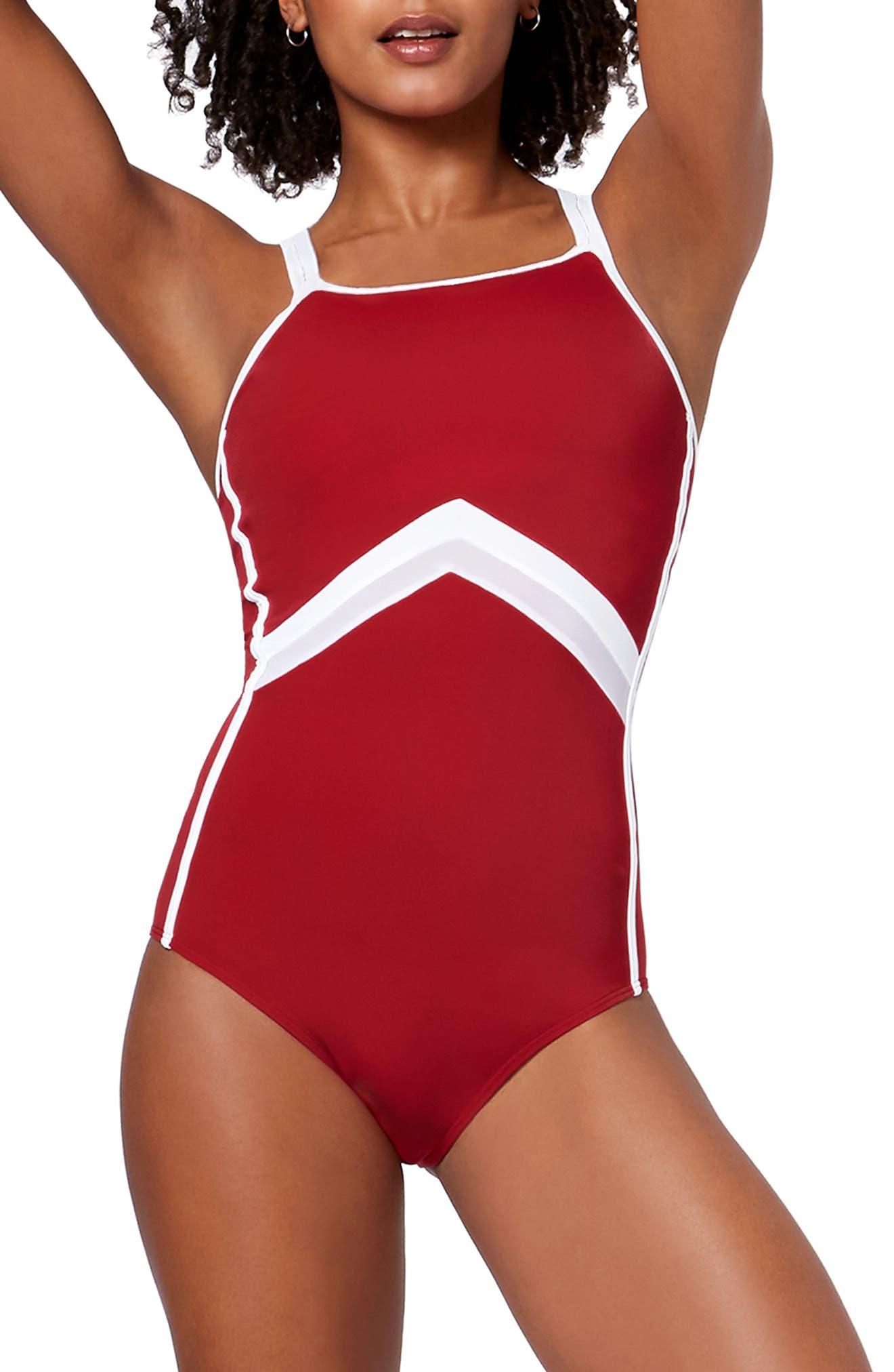 Butterfly One-Piece Swimsuit,                             Main thumbnail 1, color,                             600