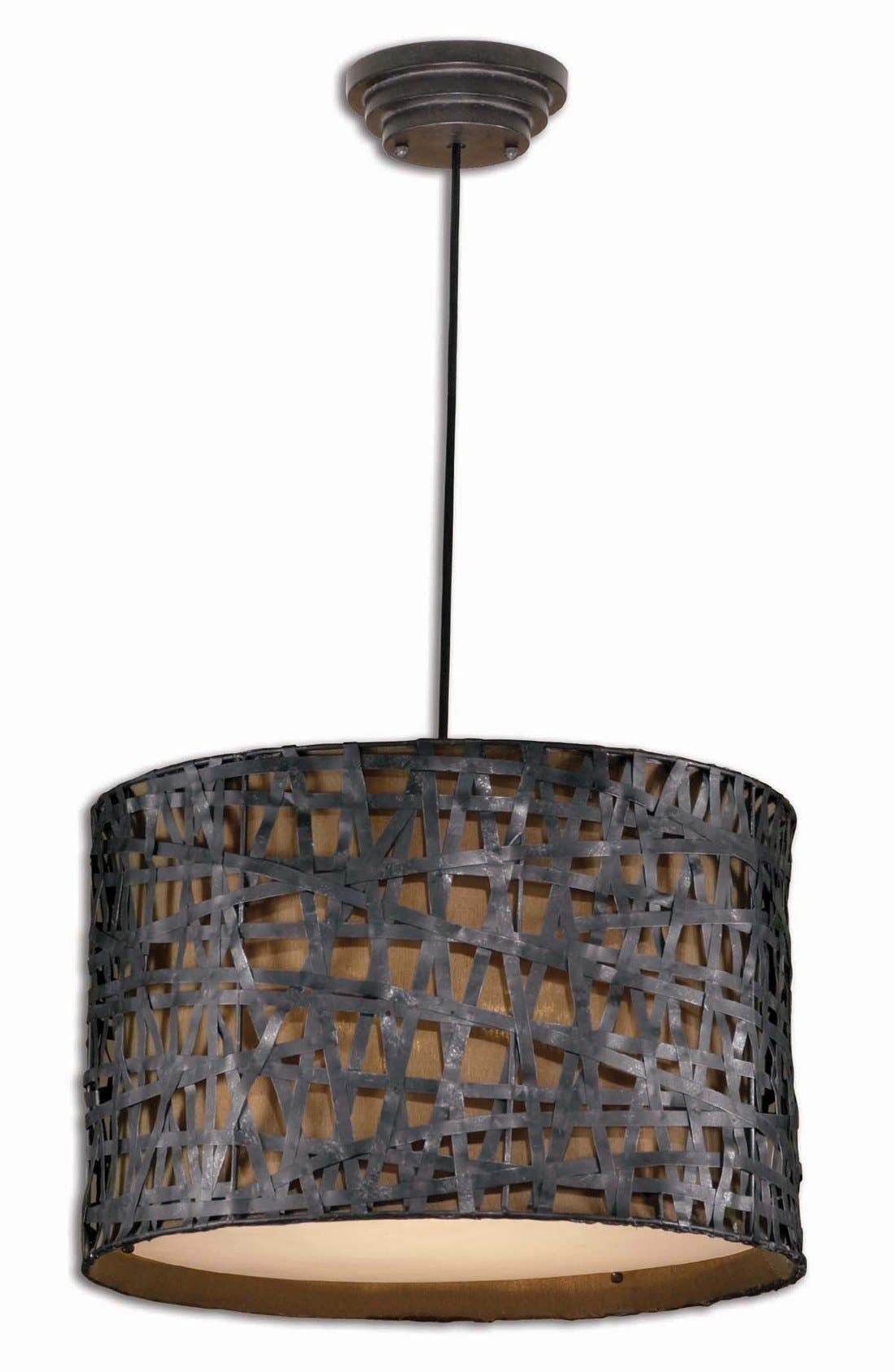'Alita' Drum Pendant Light,                         Main,                         color, 001