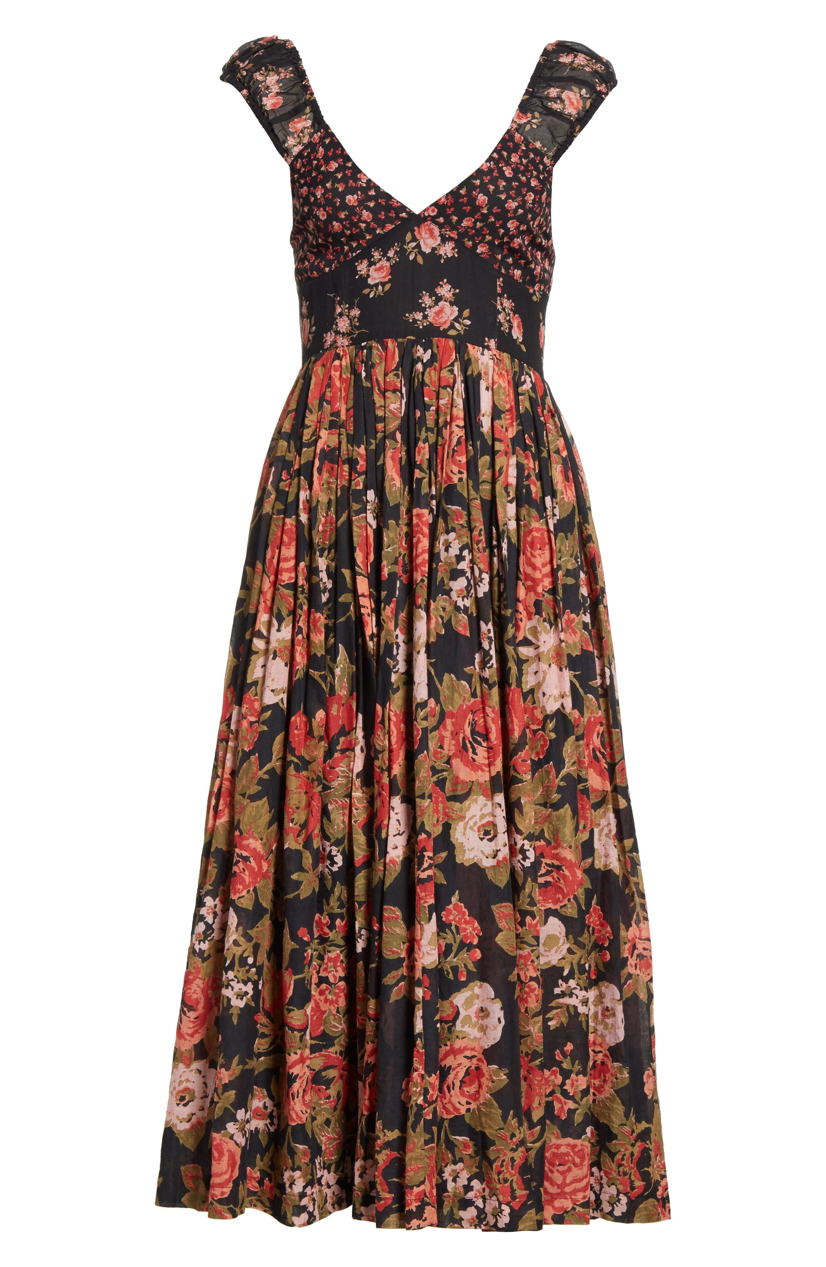 Love You Midi Dress,                             Alternate thumbnail 8, color,                             001