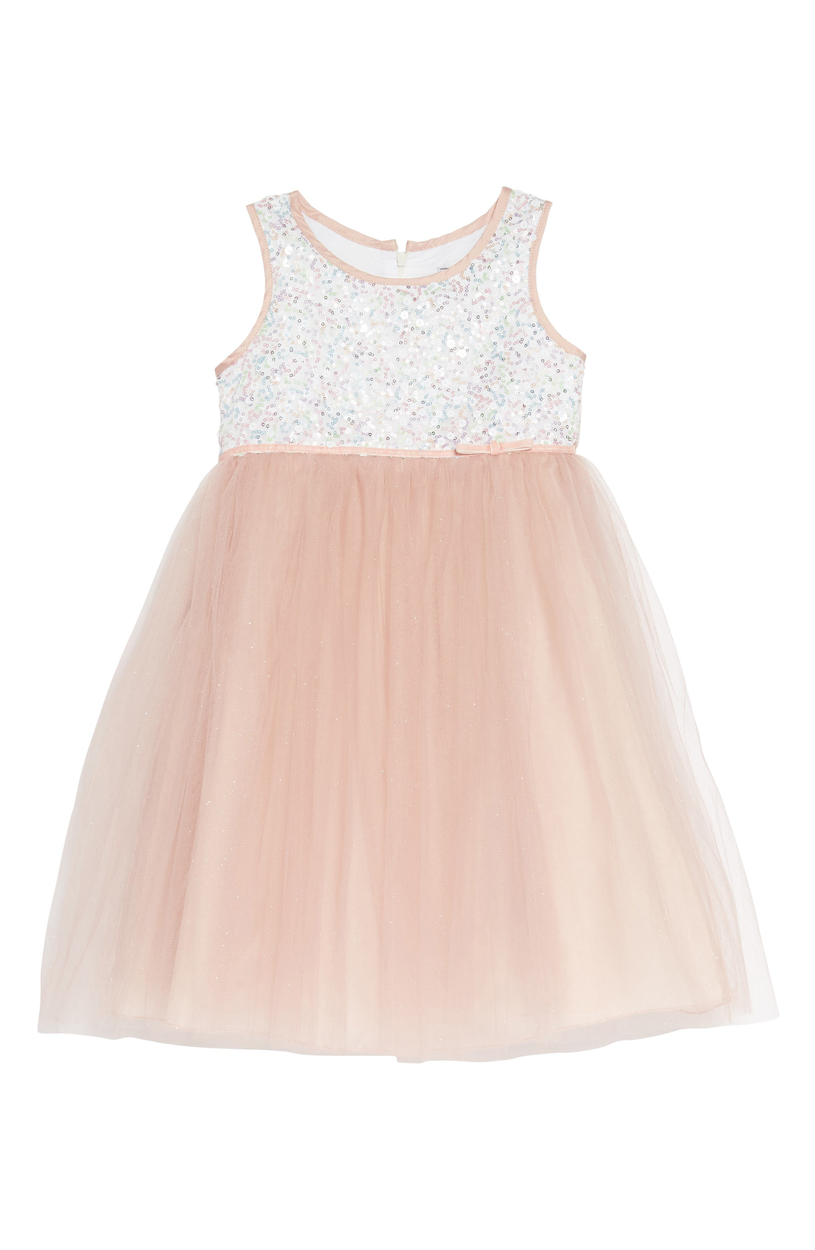Sequin Bodice Tulle Dress,                             Main thumbnail 1, color,                             661