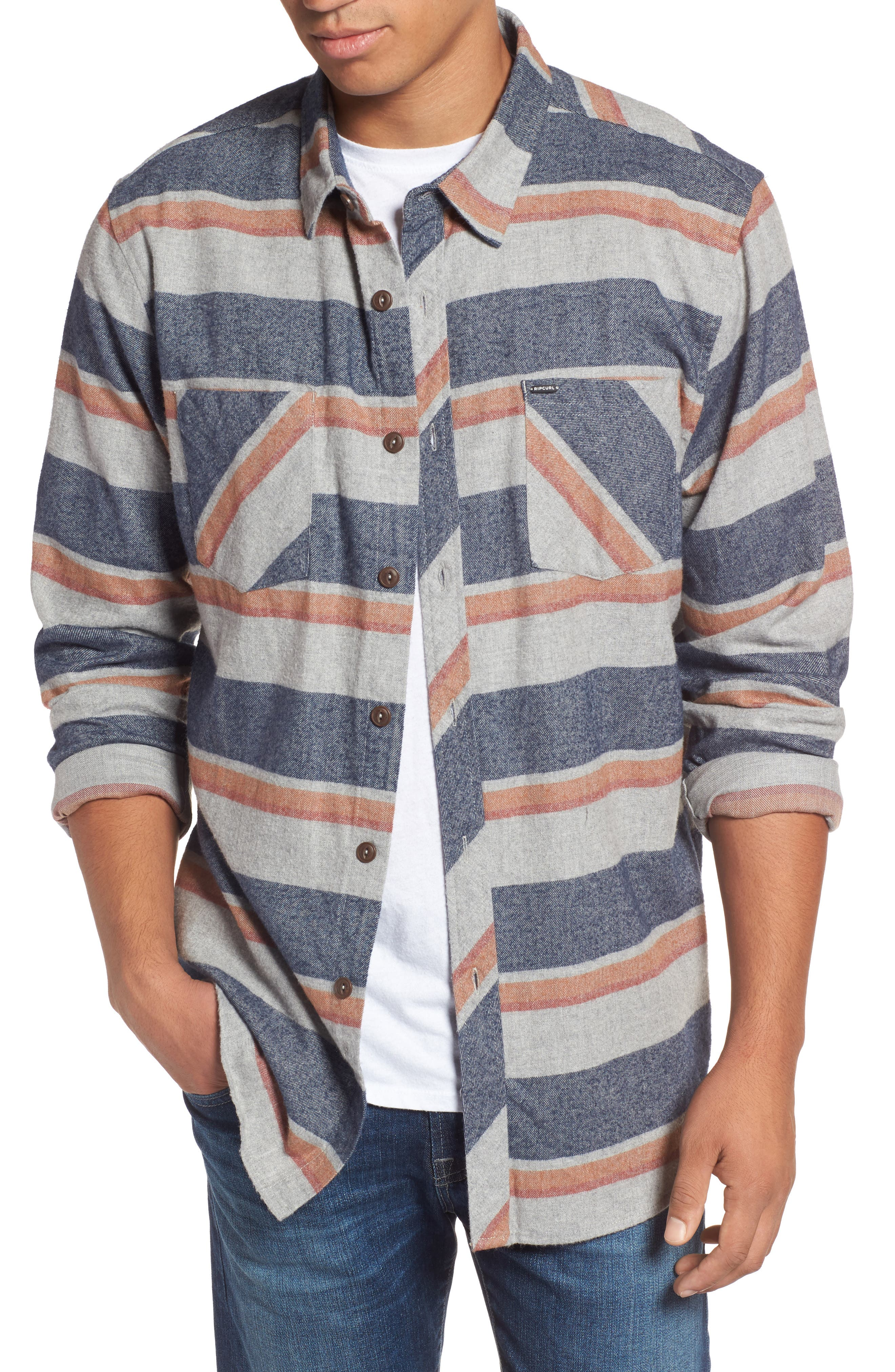 Seager Flannel Shirt,                             Main thumbnail 2, color,